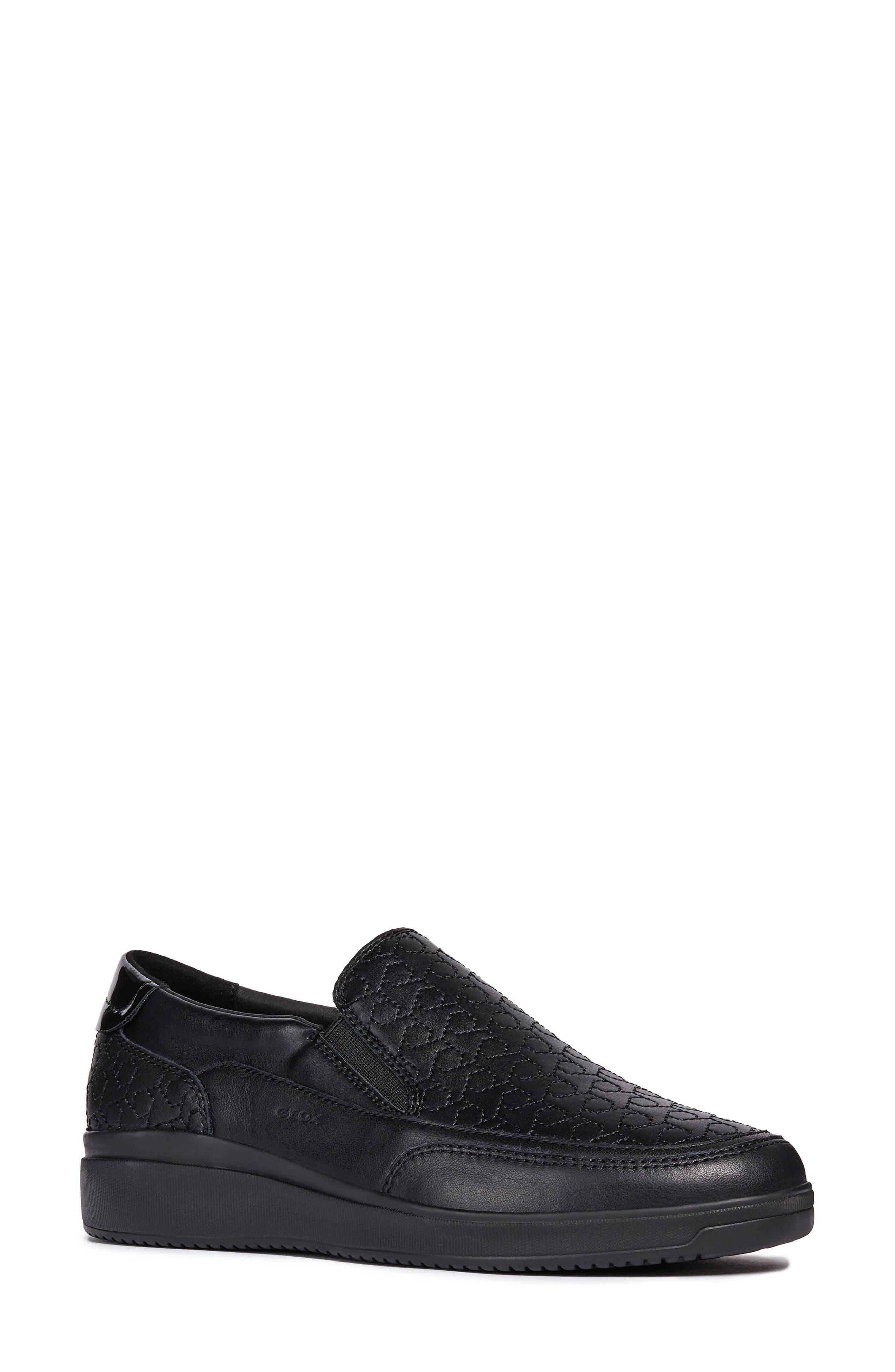 Tahina Slip-On Sneaker,                             Main thumbnail 1, color,                             BLACK FABRIC