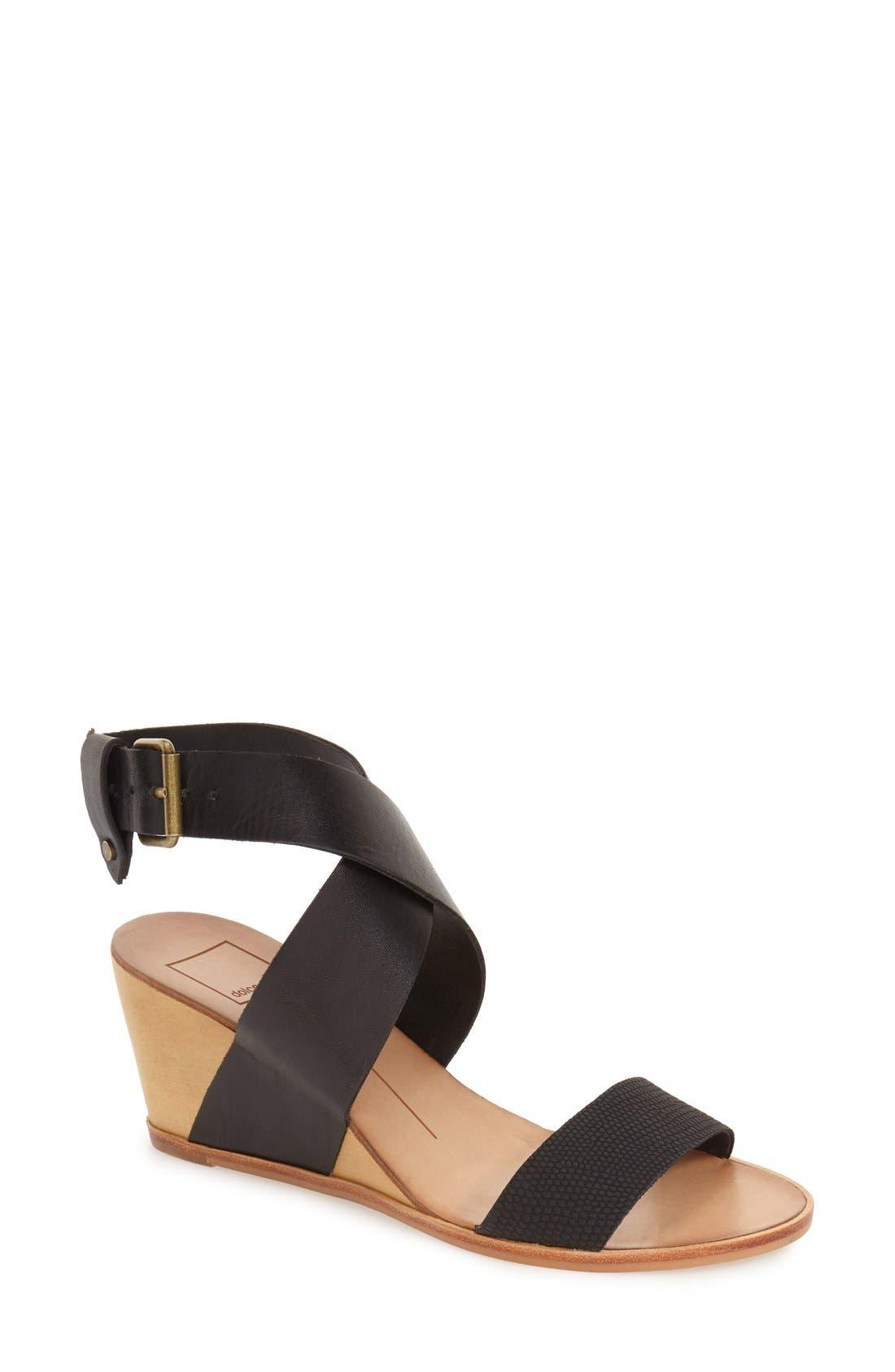 'Lola' Wedge Sandal, Main, color, 001