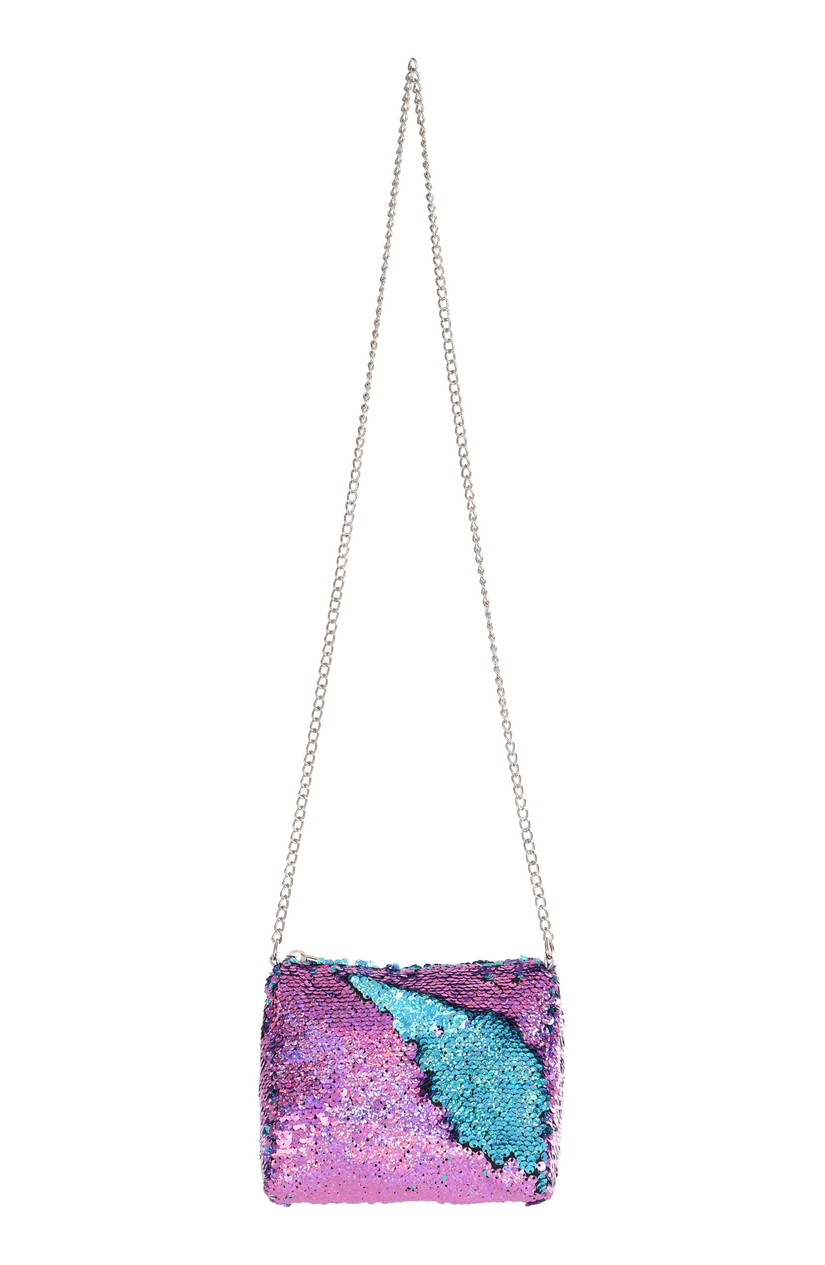 Flip Sequin Shoulder Bag,                             Alternate thumbnail 4, color,                             442