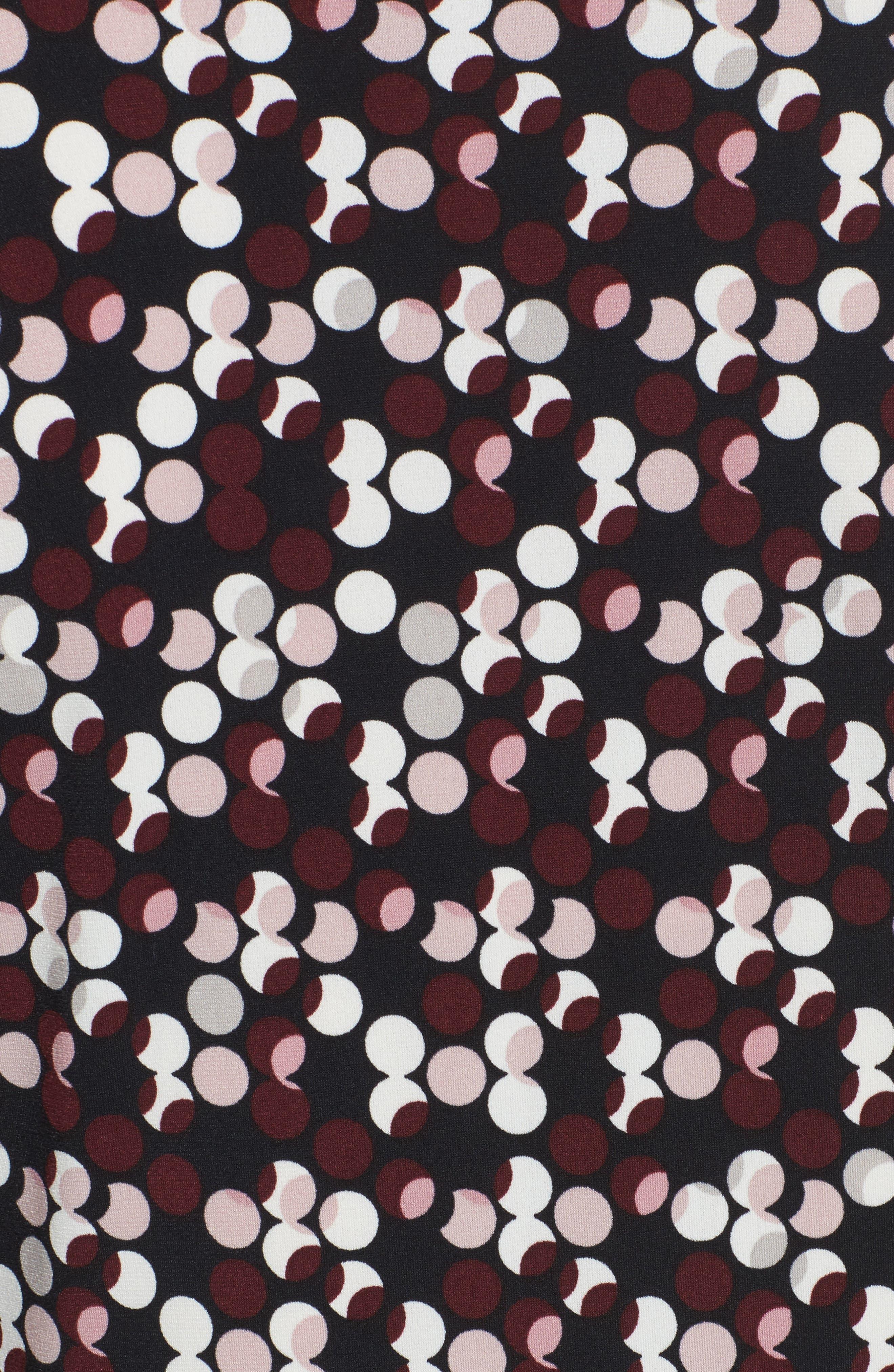 Dot Print Midi Dress,                             Alternate thumbnail 5, color,                             006