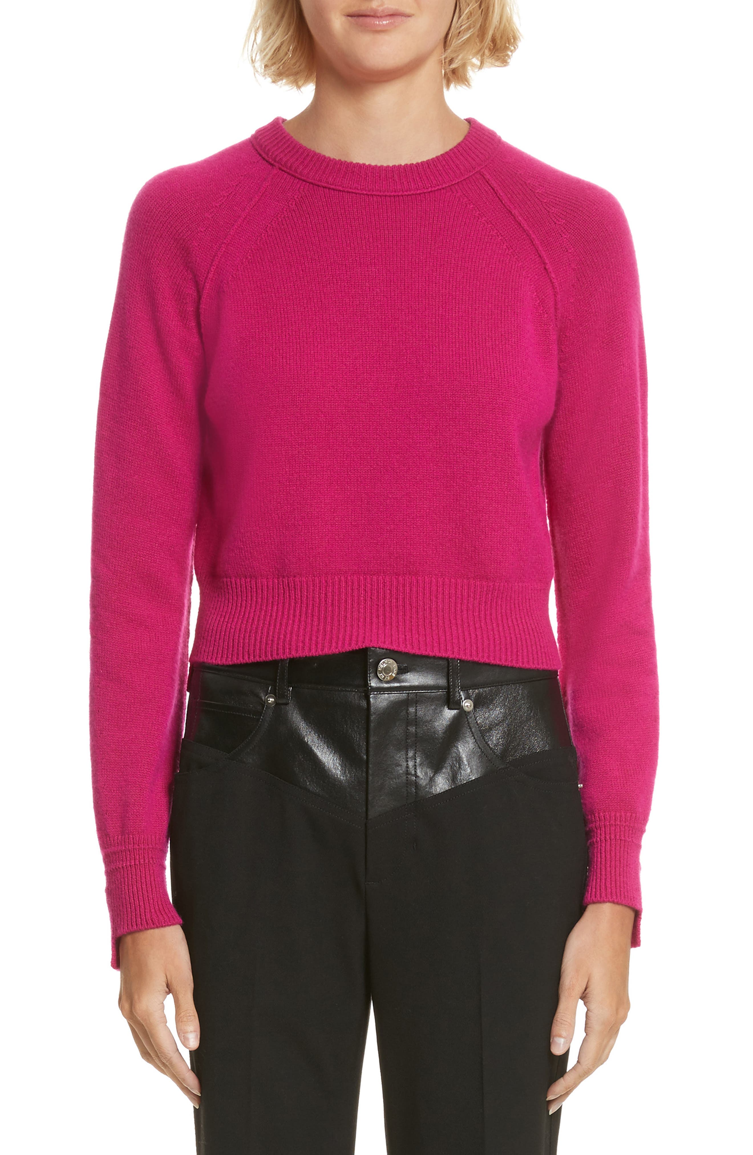 Cashmere Crop Sweater,                             Main thumbnail 1, color,                             655