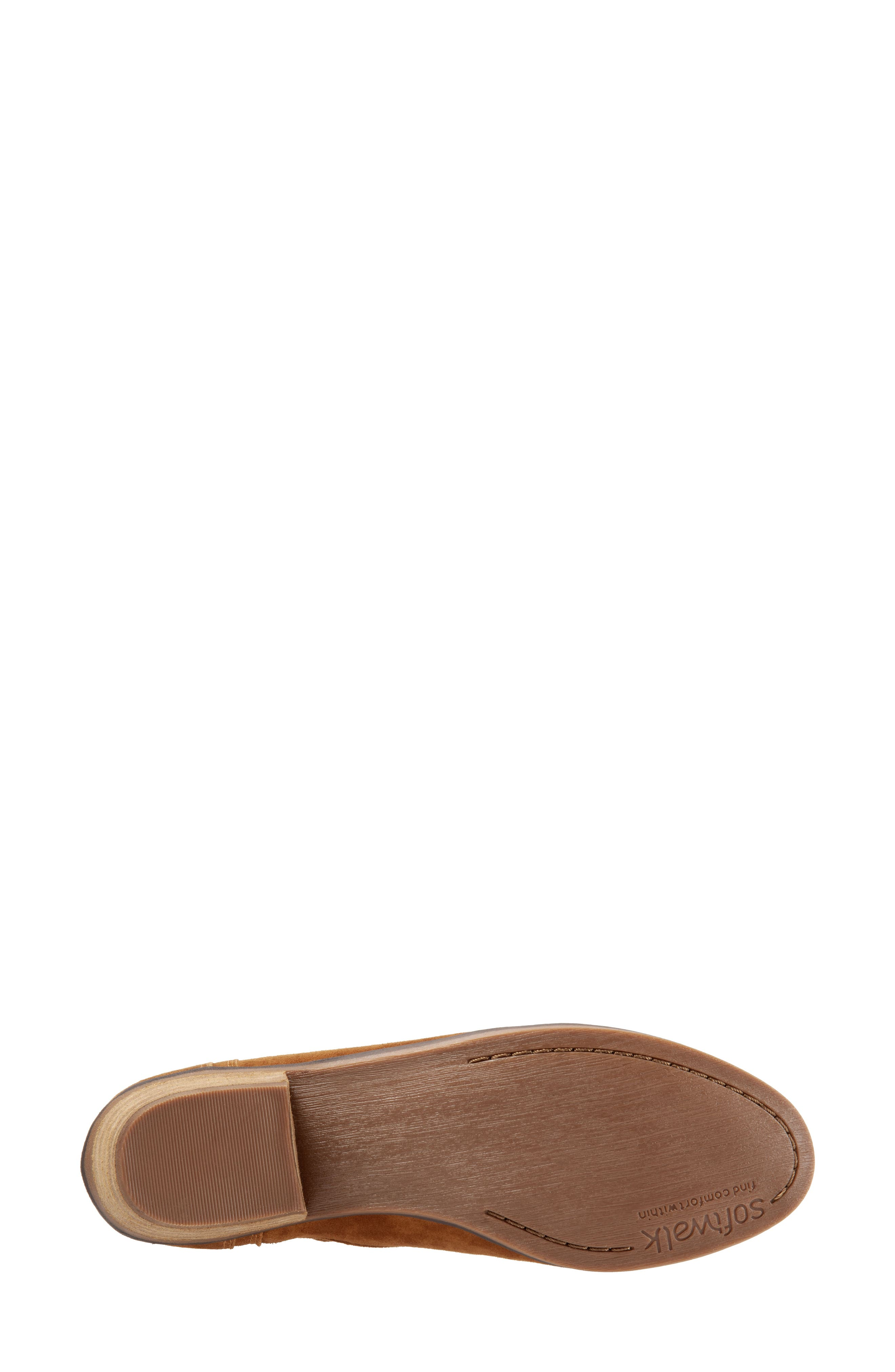 SOFTWALK<SUP>®</SUP>,                             Rochele Bootie,                             Alternate thumbnail 6, color,                             BRANDY SUEDE