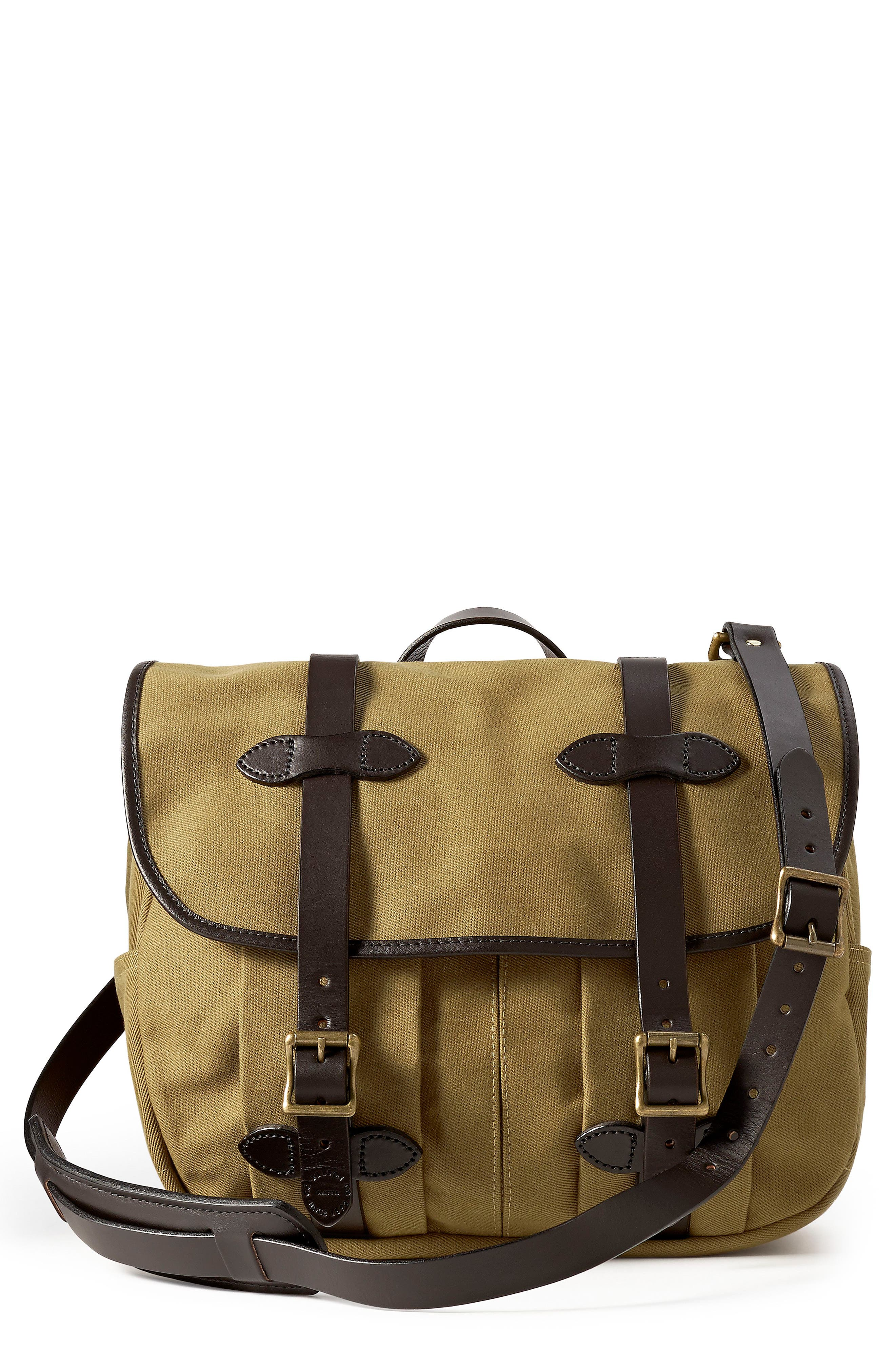 FILSON Medium Field Bag, Main, color, TAN