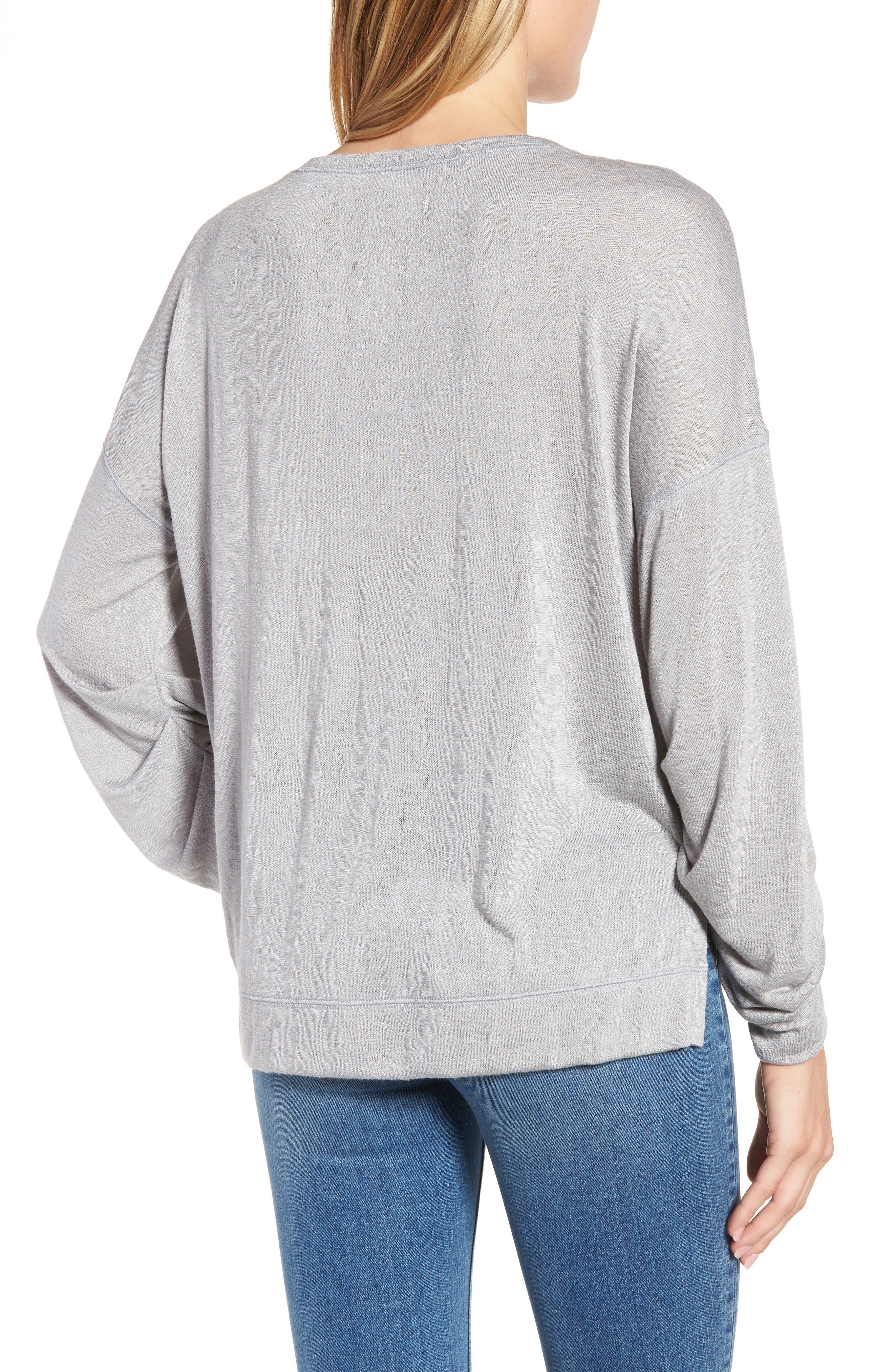 Tuck Sleeve Sweatshirt,                             Alternate thumbnail 9, color,