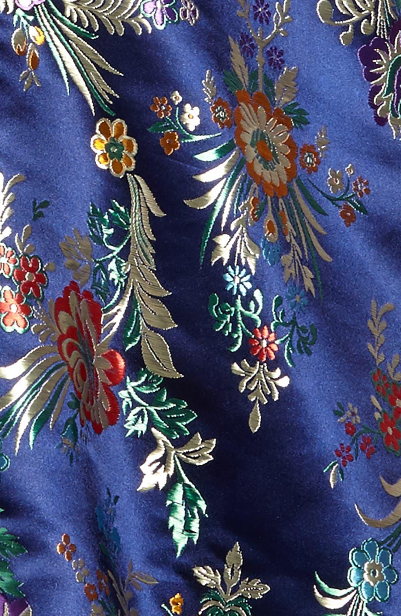 Metallic Floral Jacquard Dress,                             Alternate thumbnail 3, color,                             436