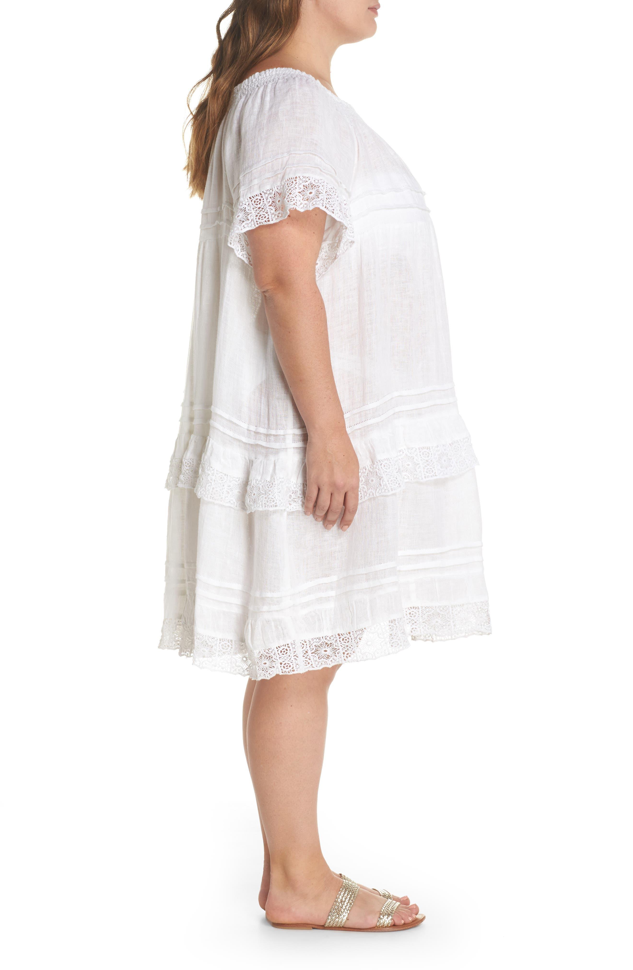 Esmerelda Cover-Up Dress,                             Alternate thumbnail 3, color,                             100