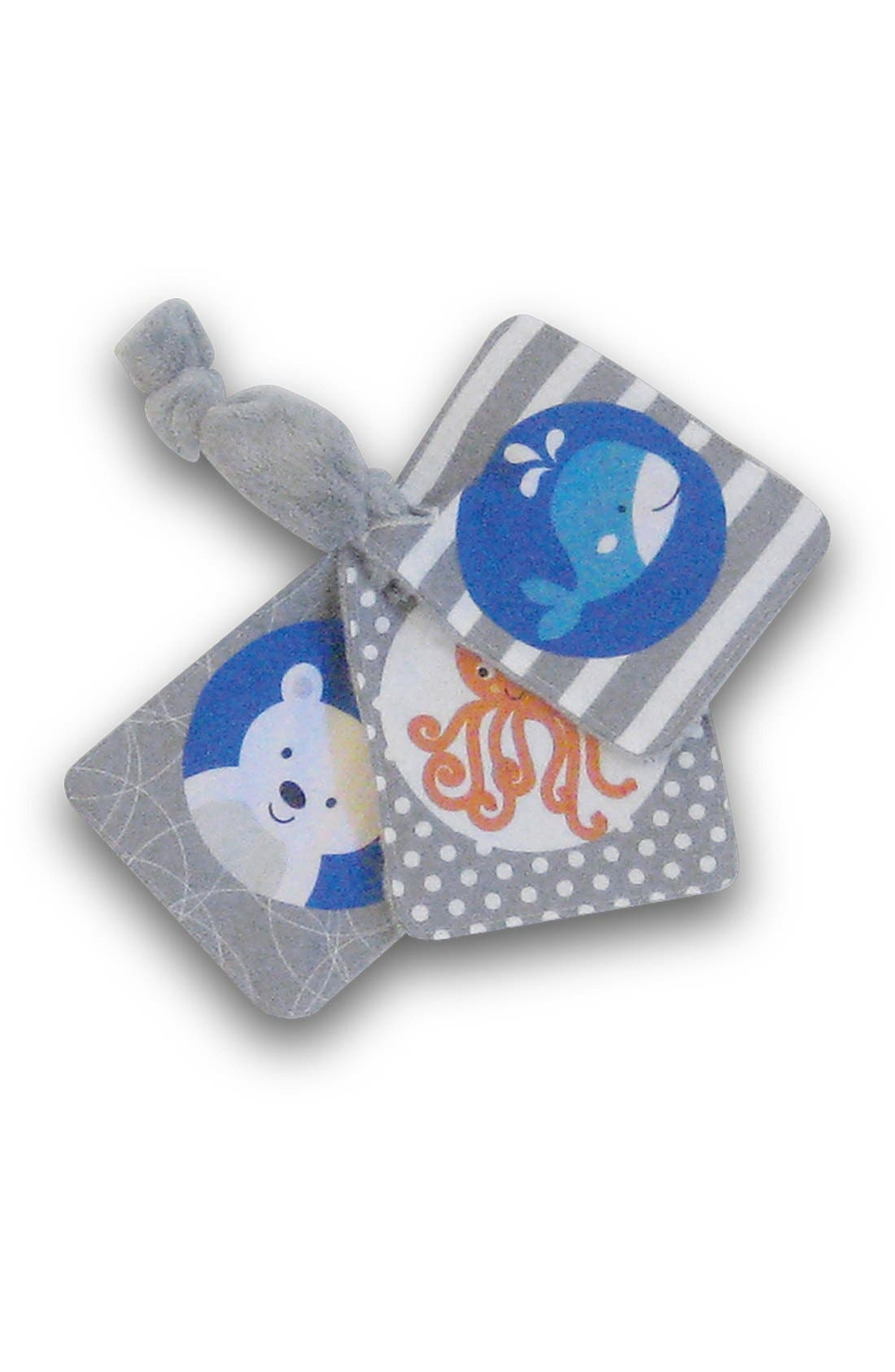 Tummy Time - SlideLine Collection Mini Pillow, Book & Teething Ring,                             Alternate thumbnail 2, color,                             GREY