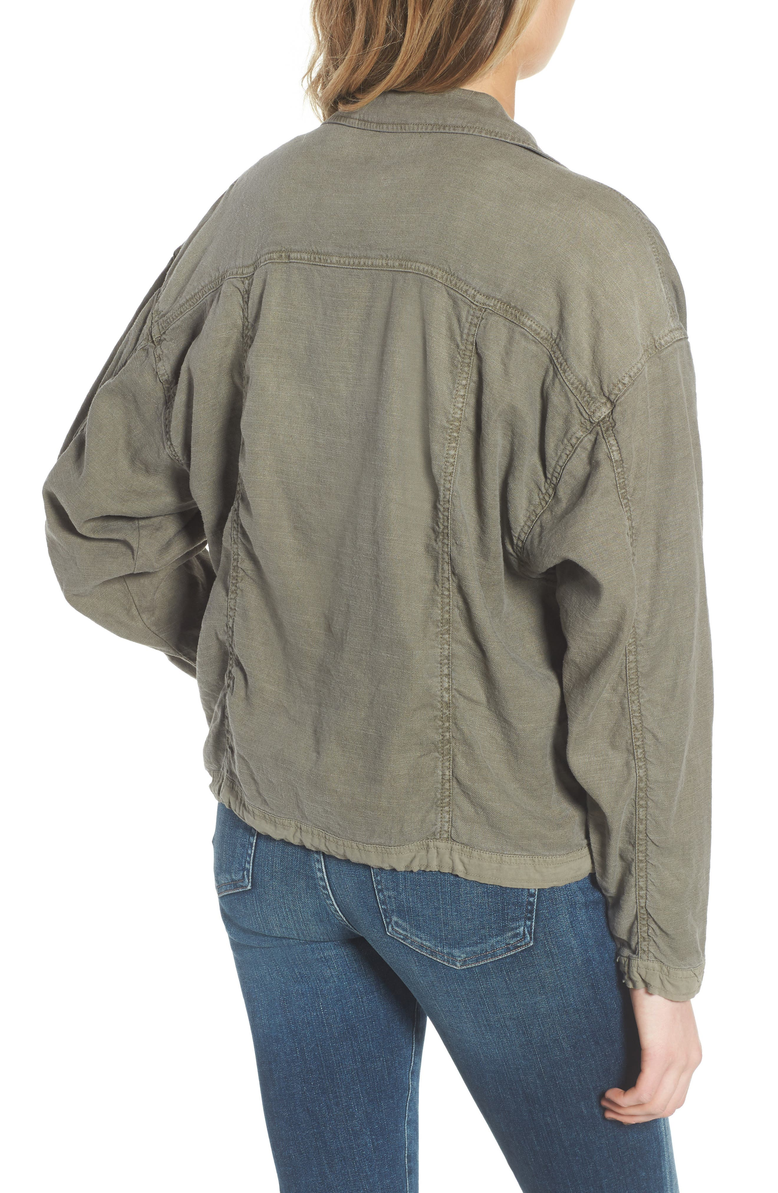 Linen Blend Drape Jacket,                             Alternate thumbnail 3, color,