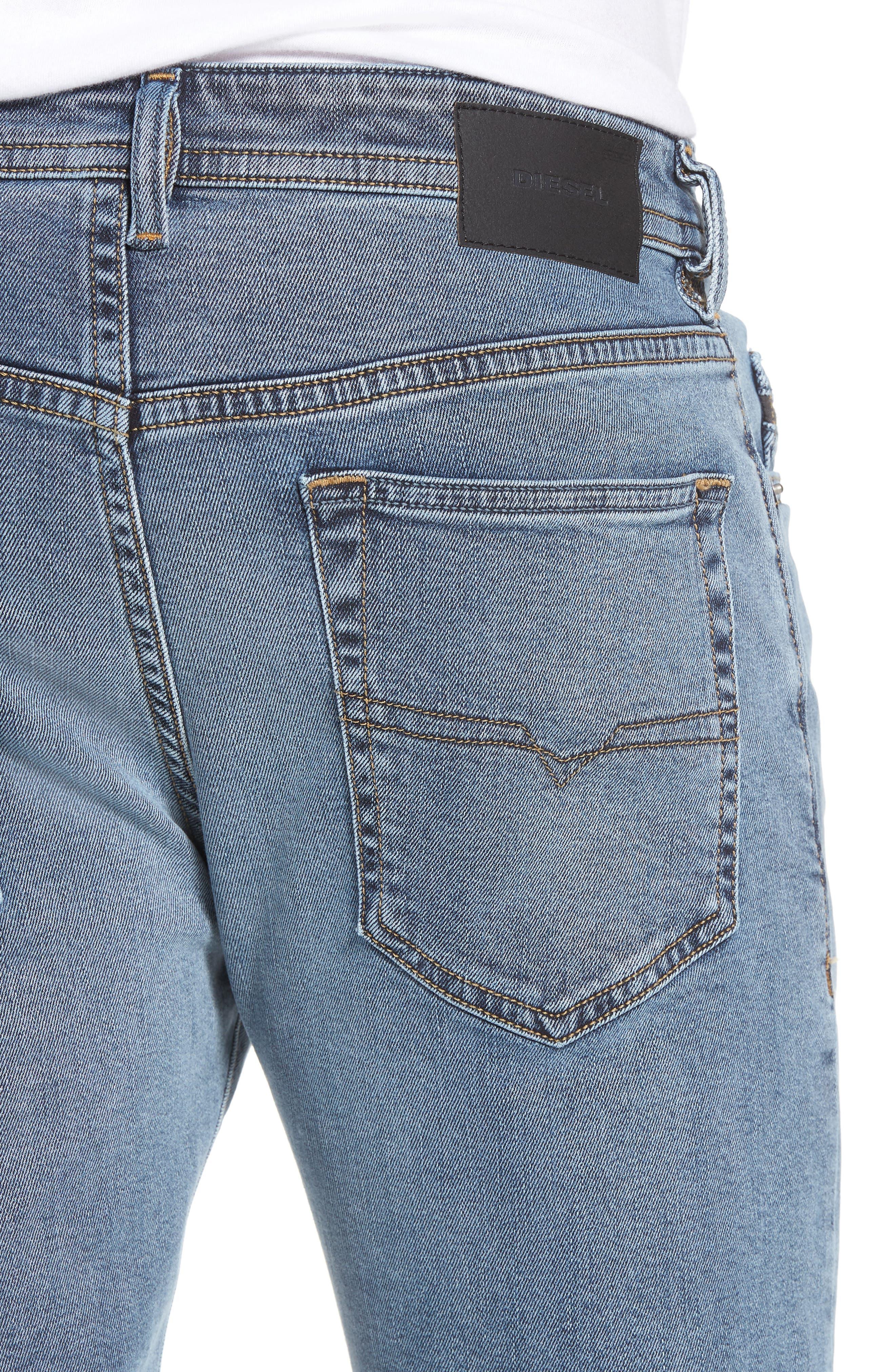 Buster Slim Straight Leg Jeans,                             Alternate thumbnail 4, color,                             084SJ