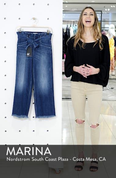 Sutton Paperbag High Waist Crop Wide Leg Jeans, sales video thumbnail