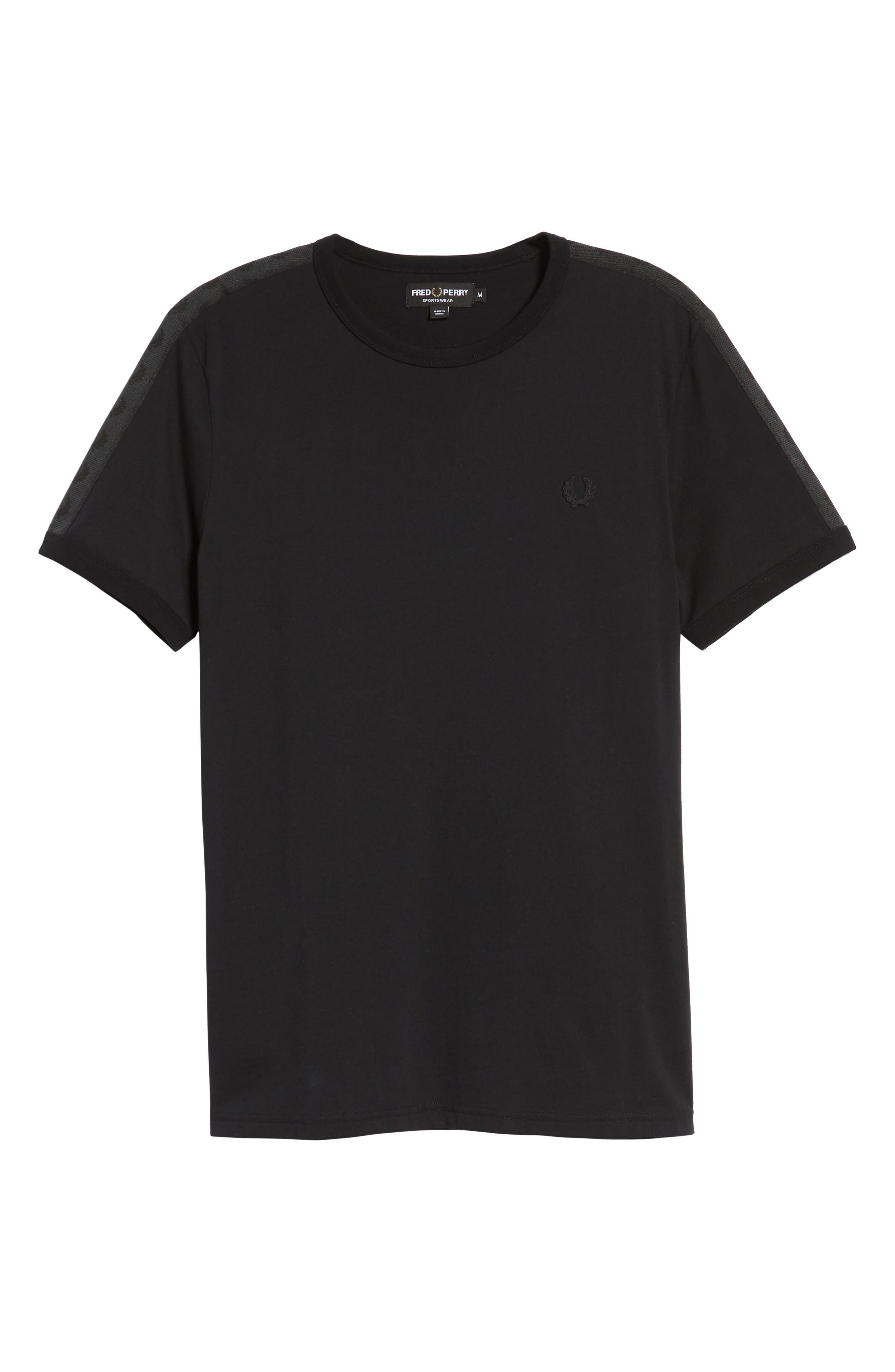 Tonal Tape T-Shirt,                             Alternate thumbnail 6, color,                             001