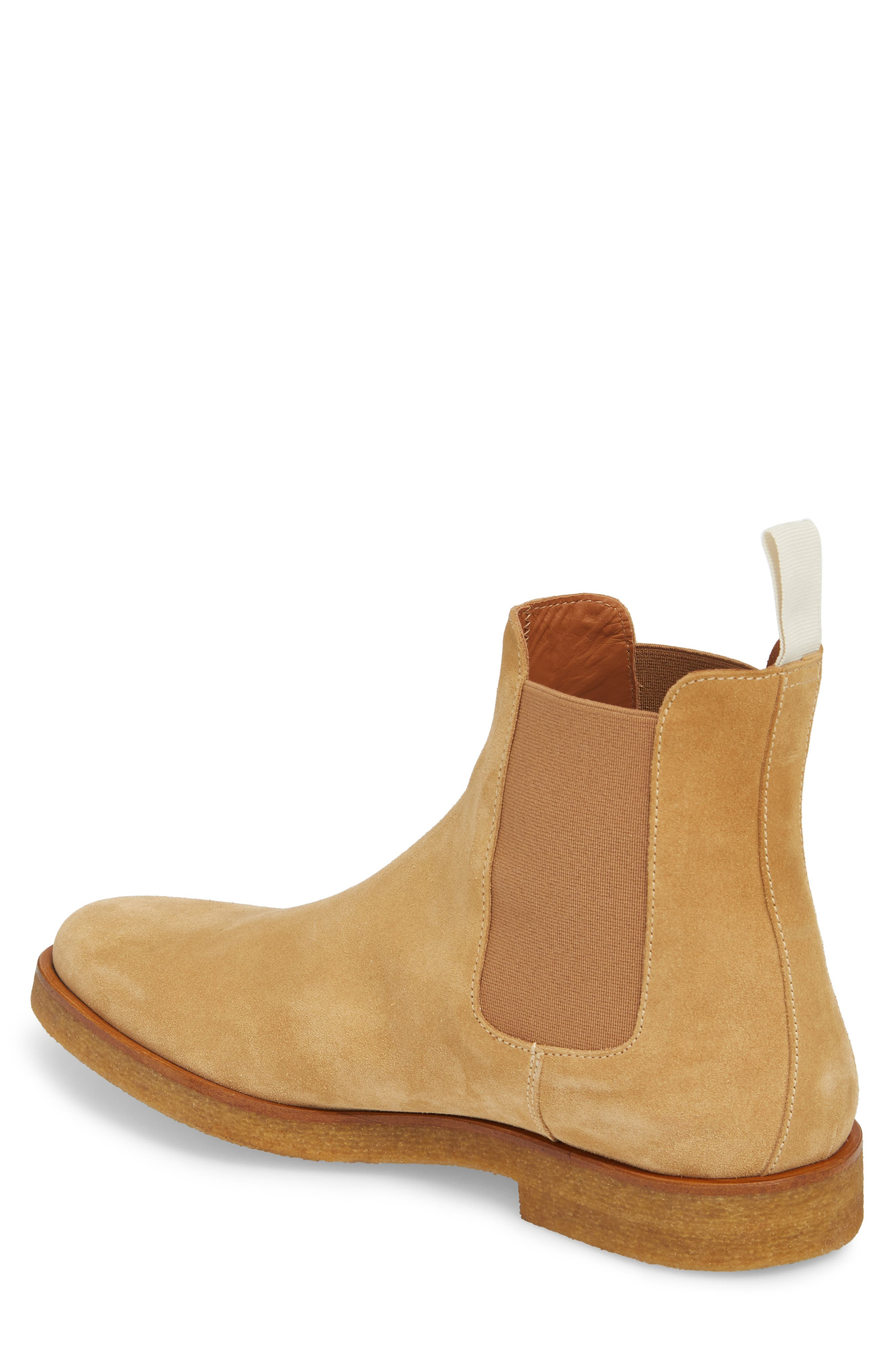 Chelsea Boot,                             Alternate thumbnail 2, color,                             AMBER SUEDE