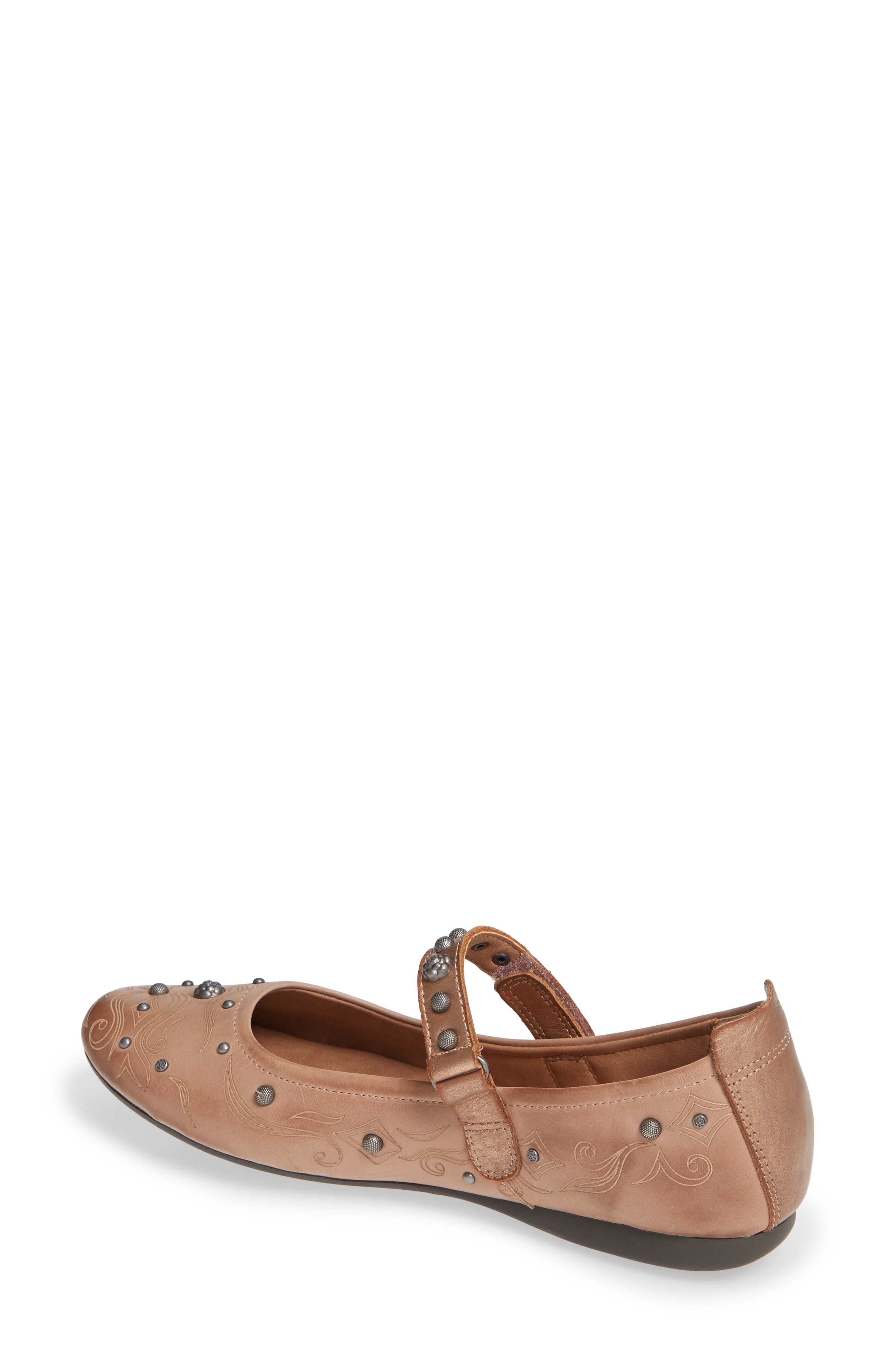 Gamine 2 Mary Jane Flat,                             Alternate thumbnail 2, color,                             WARM PINK LEATHER