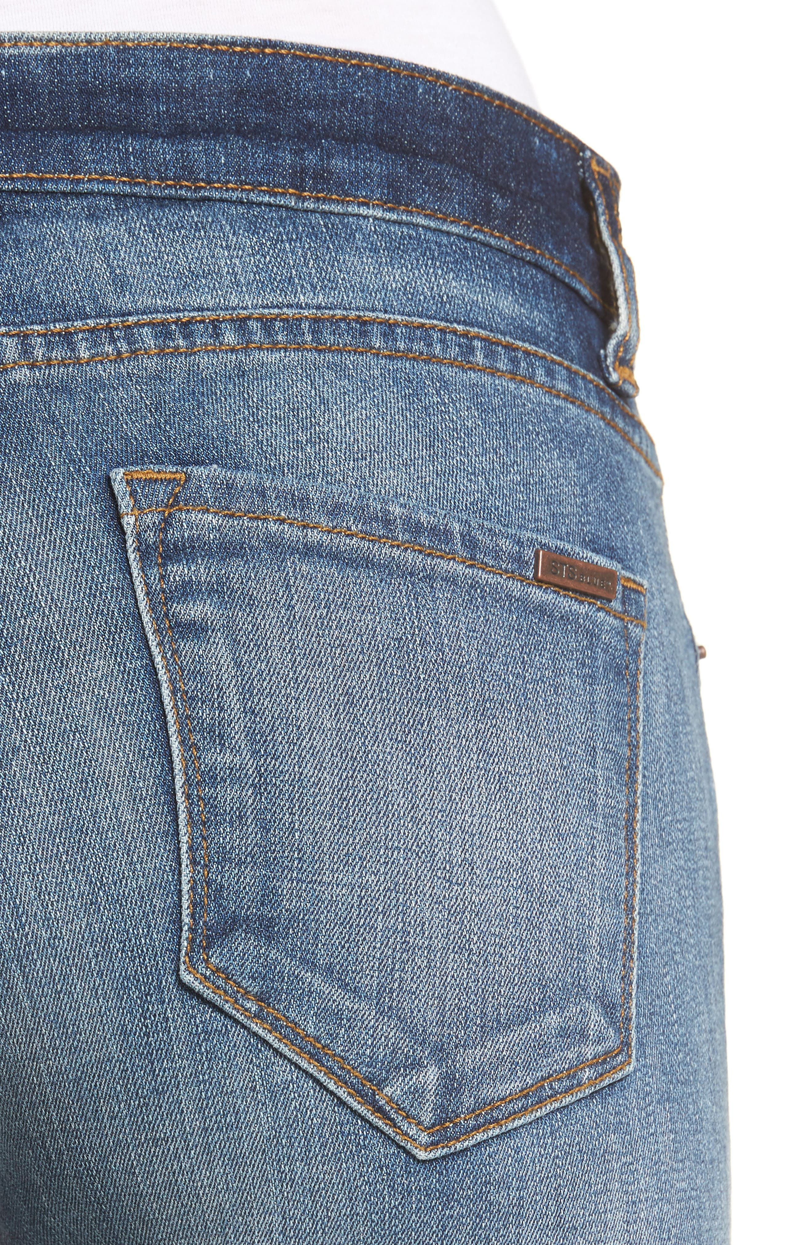 Taylor Colorblock Straight Leg Jeans,                             Alternate thumbnail 4, color,