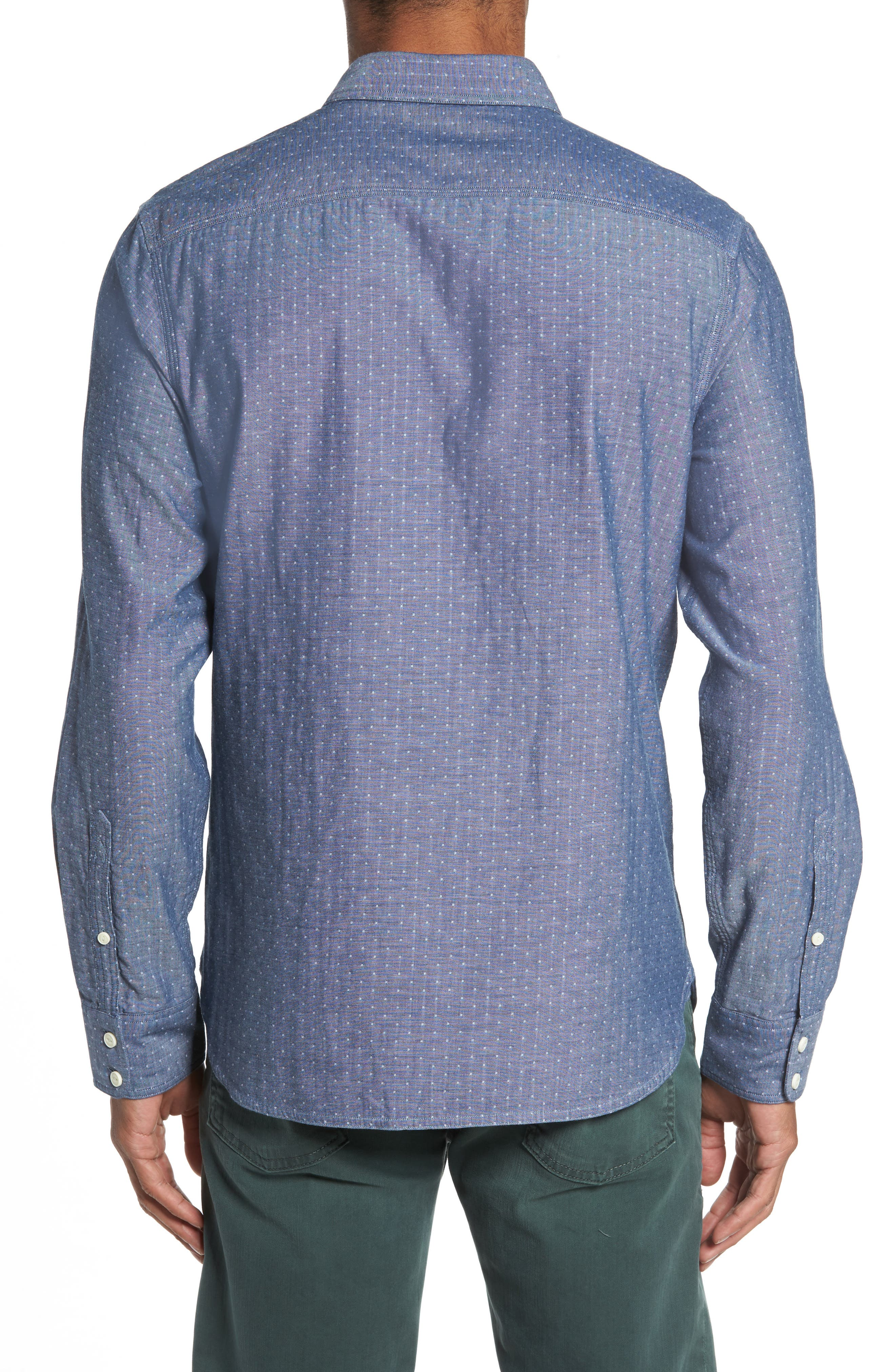 Trim Fit Utility Duofold Sport Shirt,                             Alternate thumbnail 2, color,