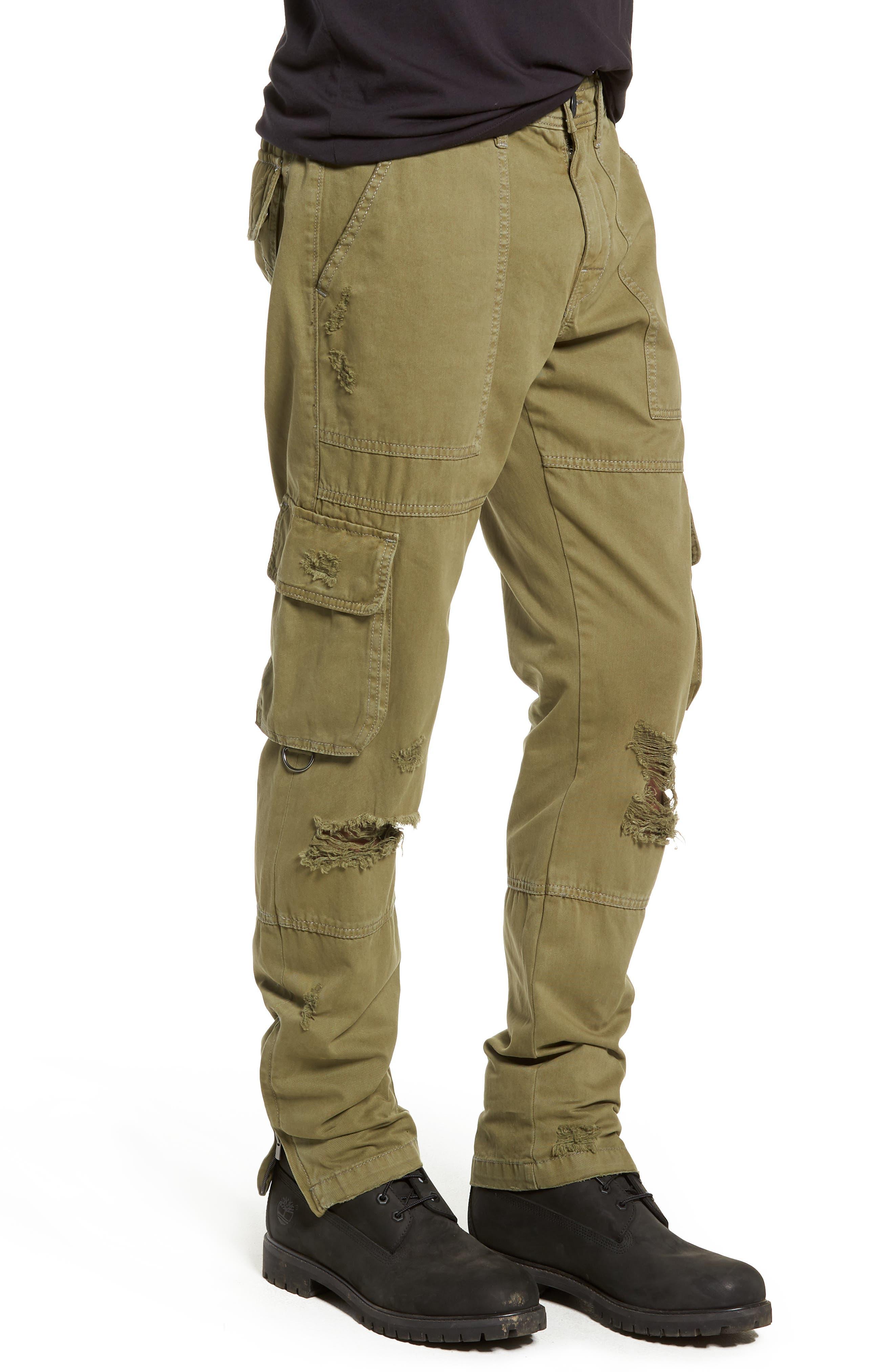 Military Cargo Pants,                             Alternate thumbnail 3, color,                             MIST GREEN