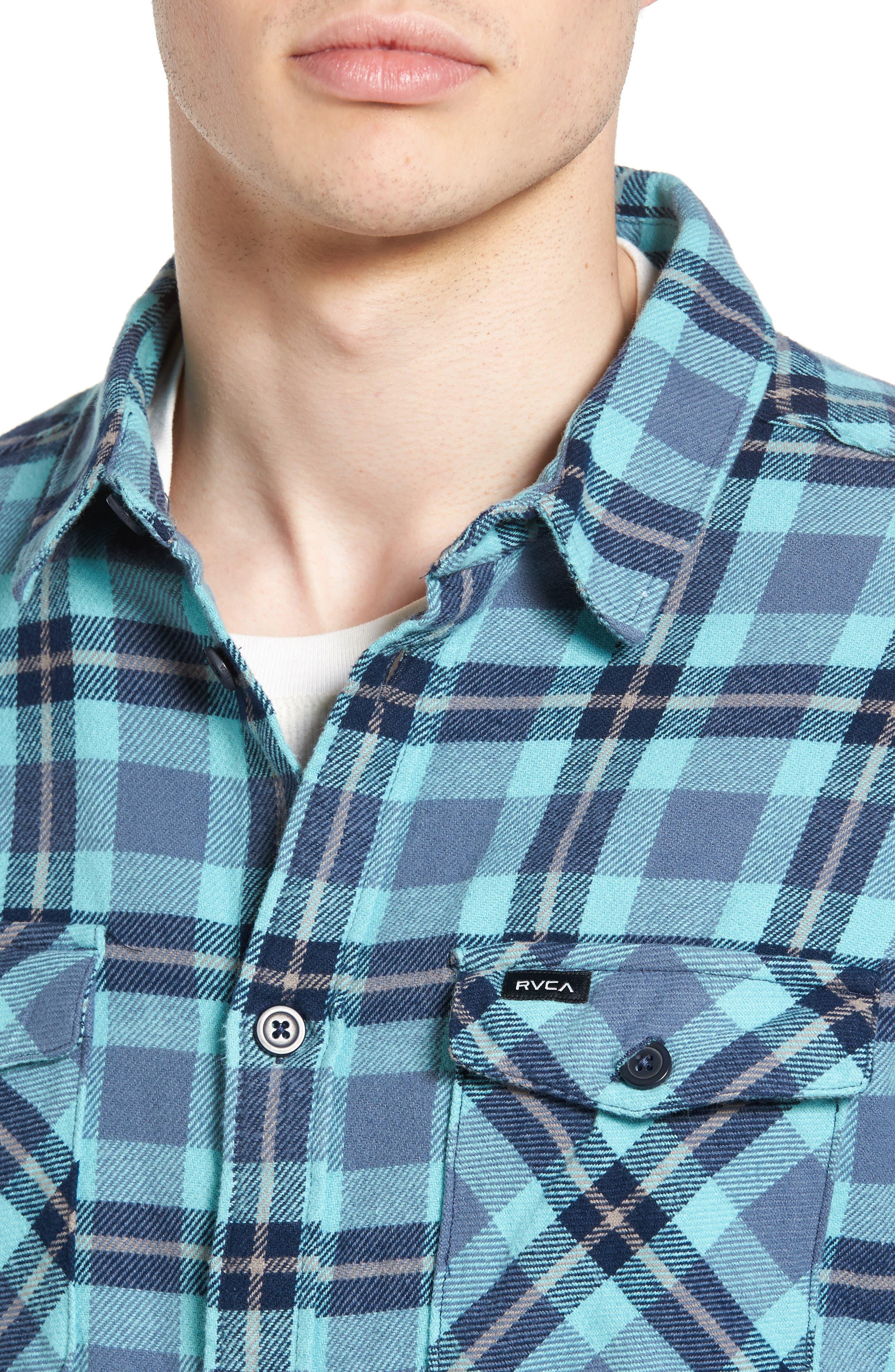 'That'll Work' Trim Fit Plaid Flannel Shirt,                             Alternate thumbnail 23, color,