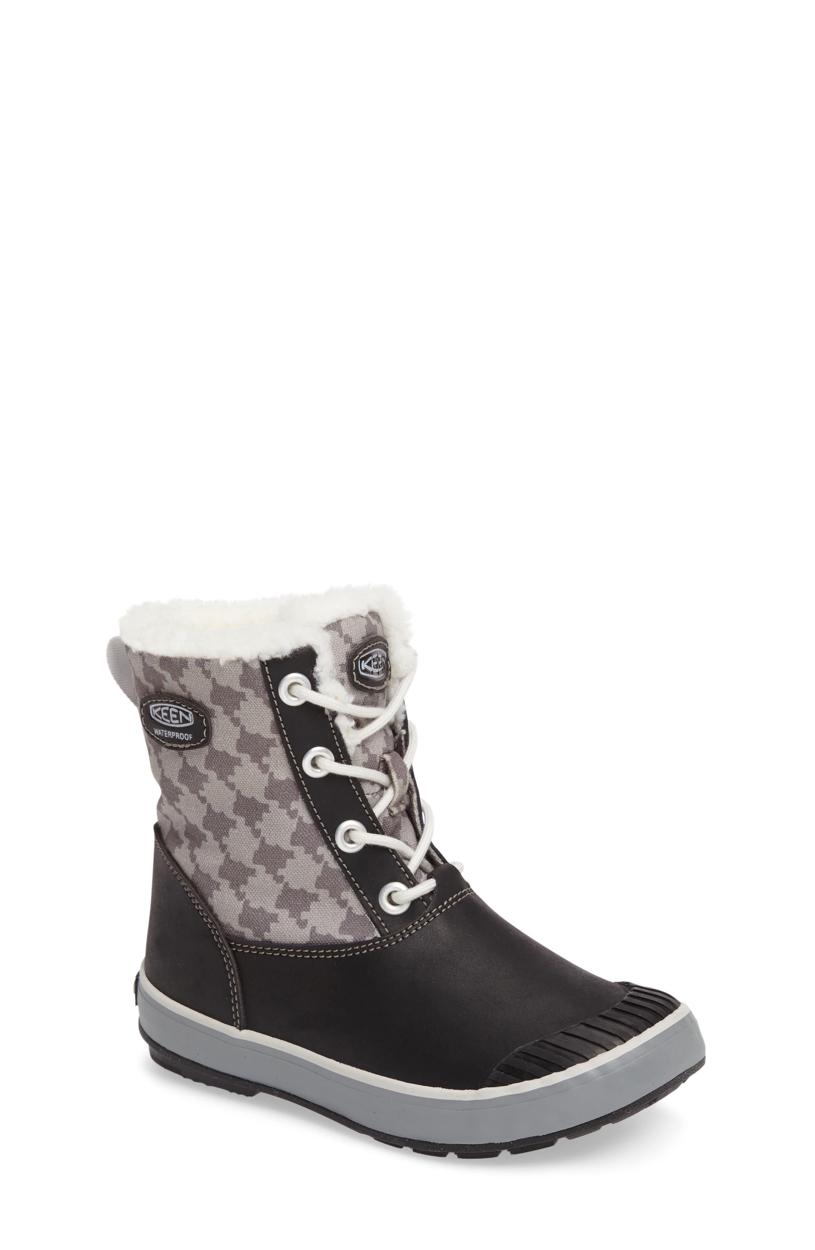 Elsa Waterproof Faux Fur Lined Snow Boot,                         Main,                         color,