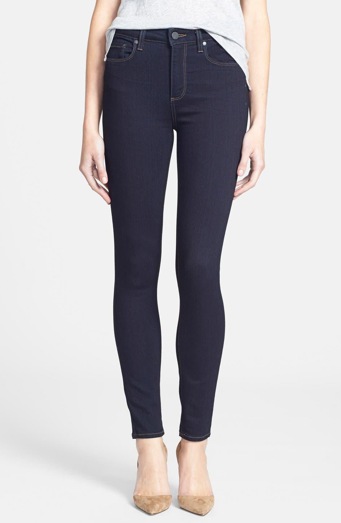 Denim 'Transcend - Hoxton' High Rise Ankle Jeans,                             Main thumbnail 1, color,                             001