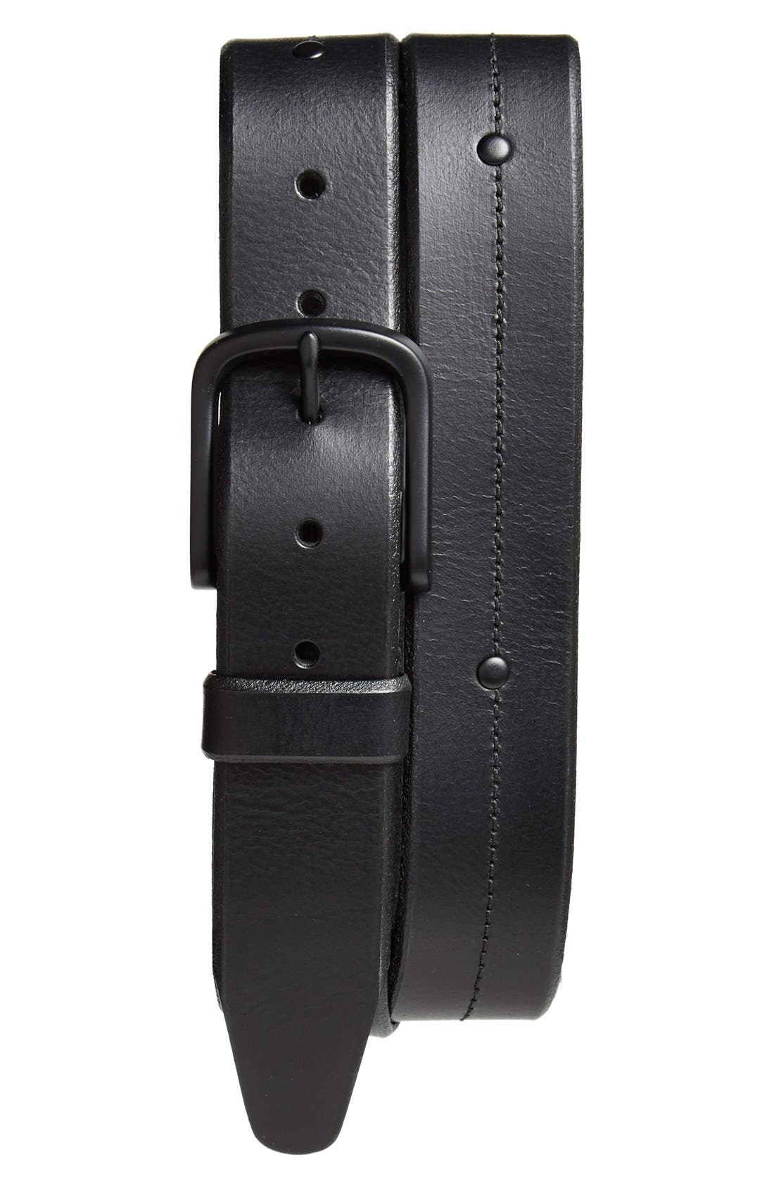 'Pierce Avenue' Leather Belt,                             Main thumbnail 1, color,                             001