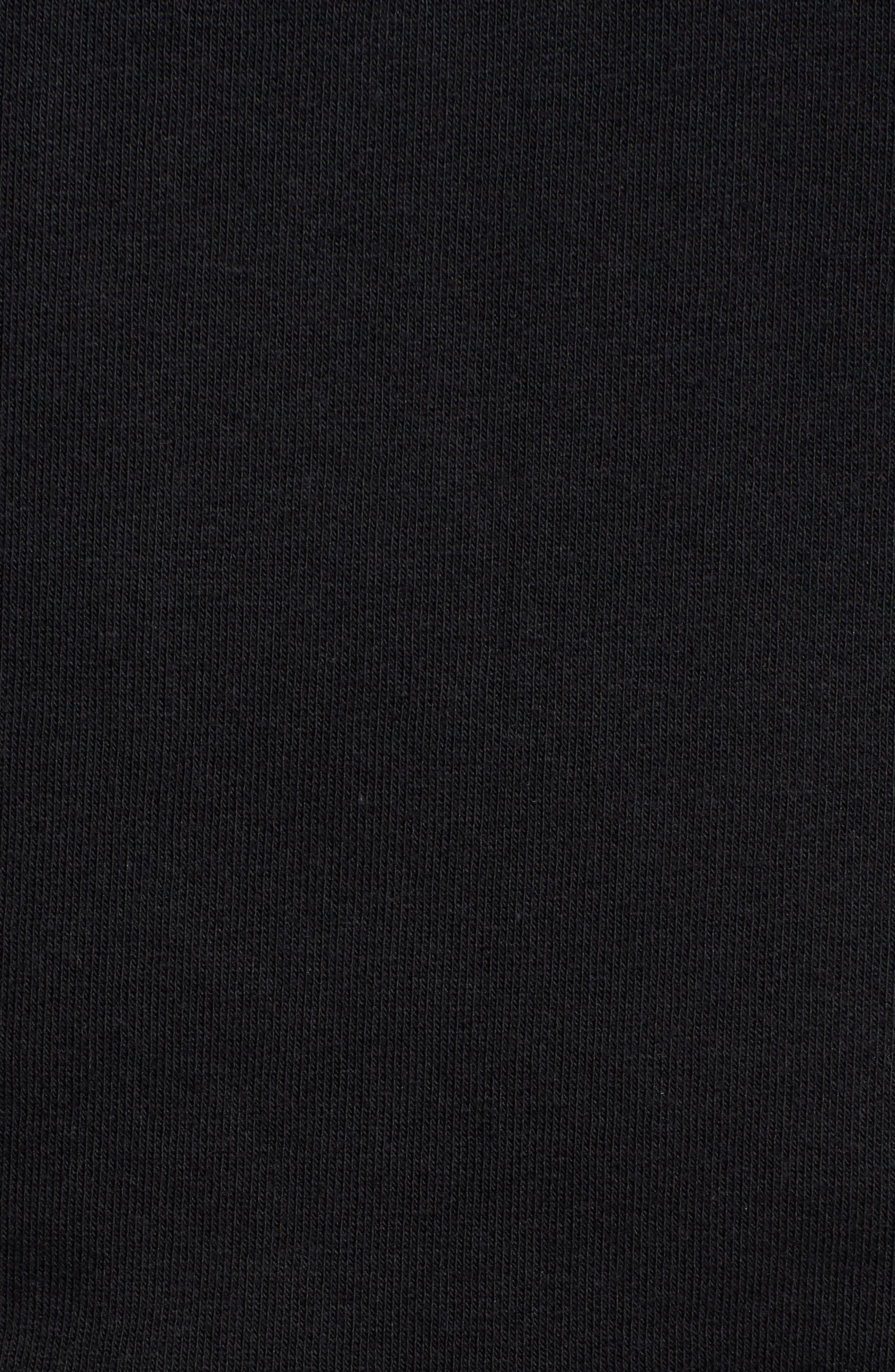 Annie Logo Cotton Blend Hoodie,                             Alternate thumbnail 5, color,                             BLACK