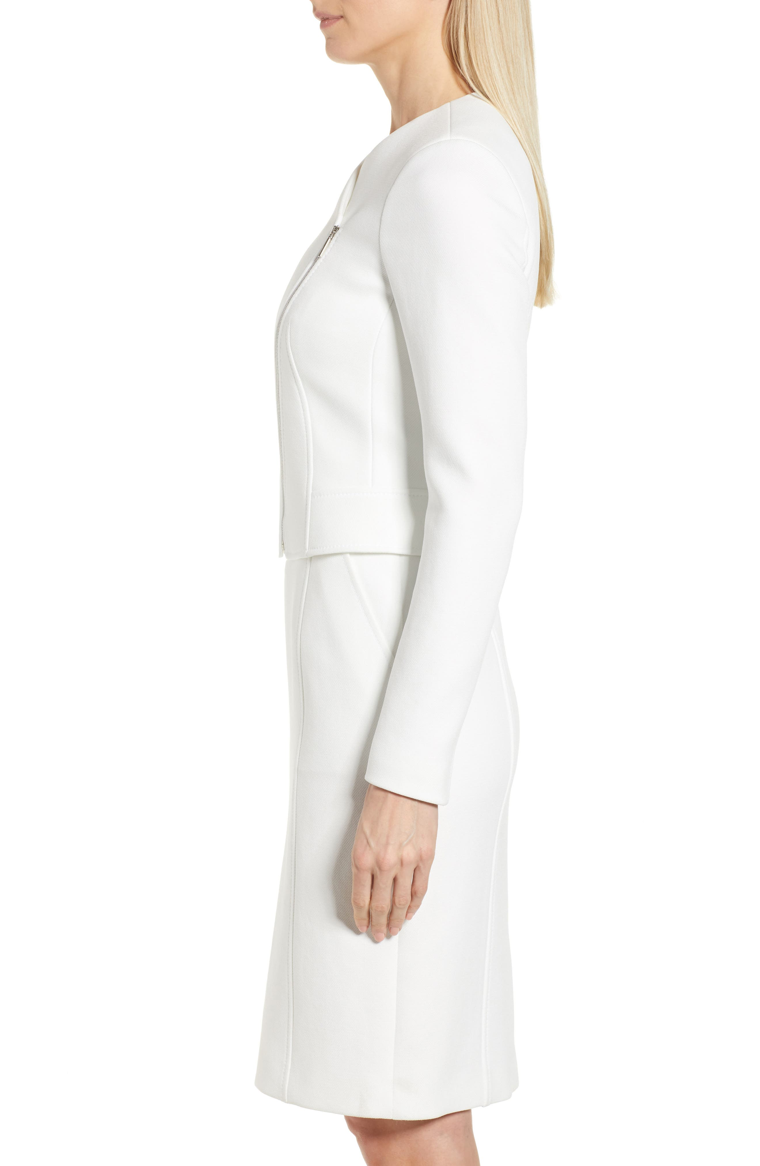 Juleama Compact Twill Asymmetrical Zip Jacket,                             Alternate thumbnail 3, color,