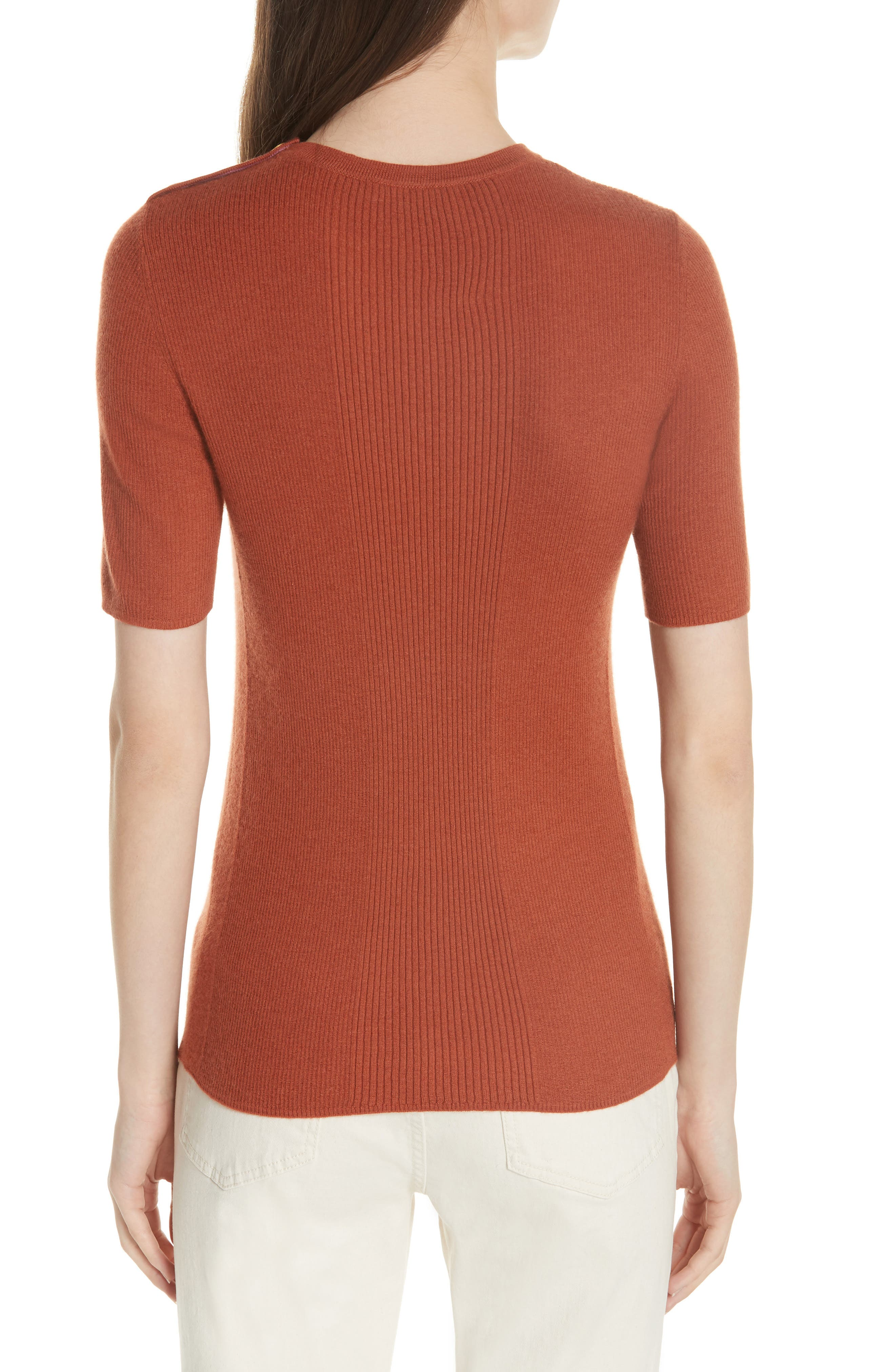 Taylor Ribbed Cashmere Sweater,                             Alternate thumbnail 2, color,                             DESERT SPICE