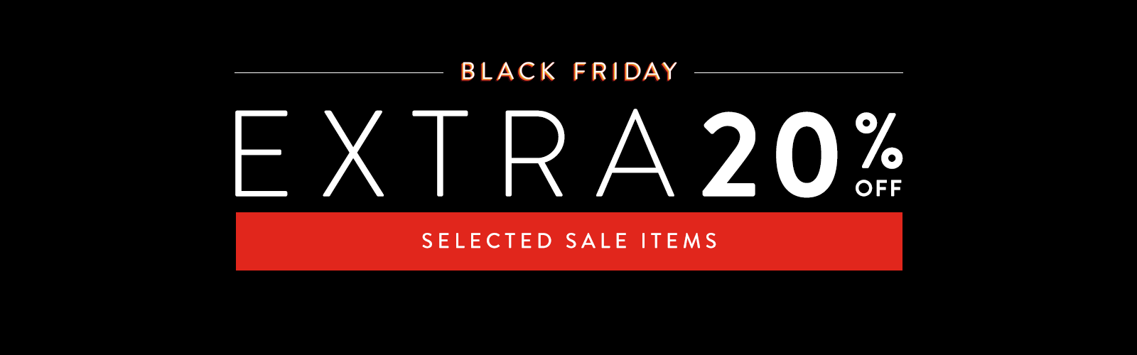Black Friday at Nordstrom. Save an extra 20% off selected sale items.