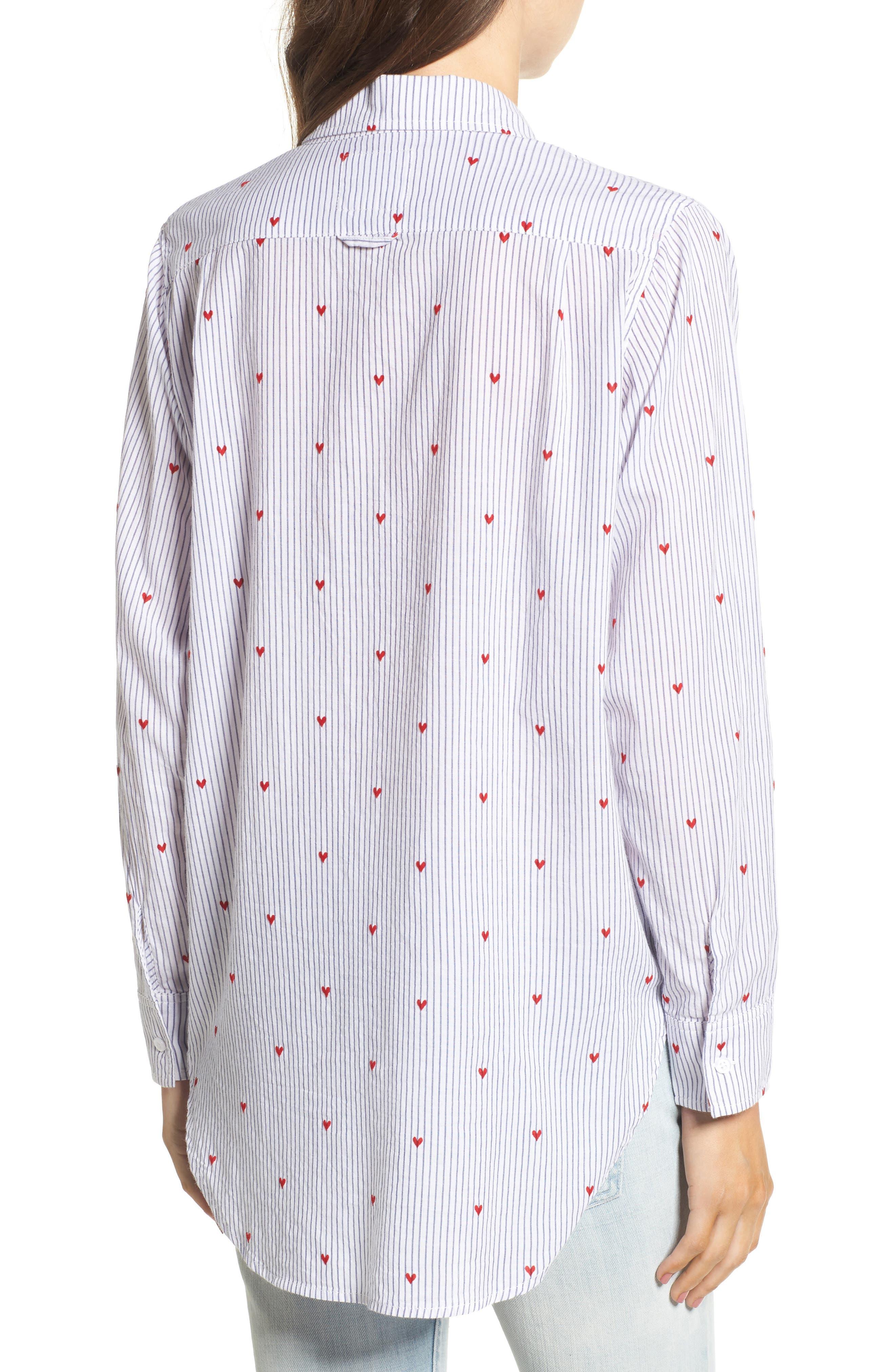 Taylor Heart Stripe Shirt,                             Alternate thumbnail 2, color,                             400