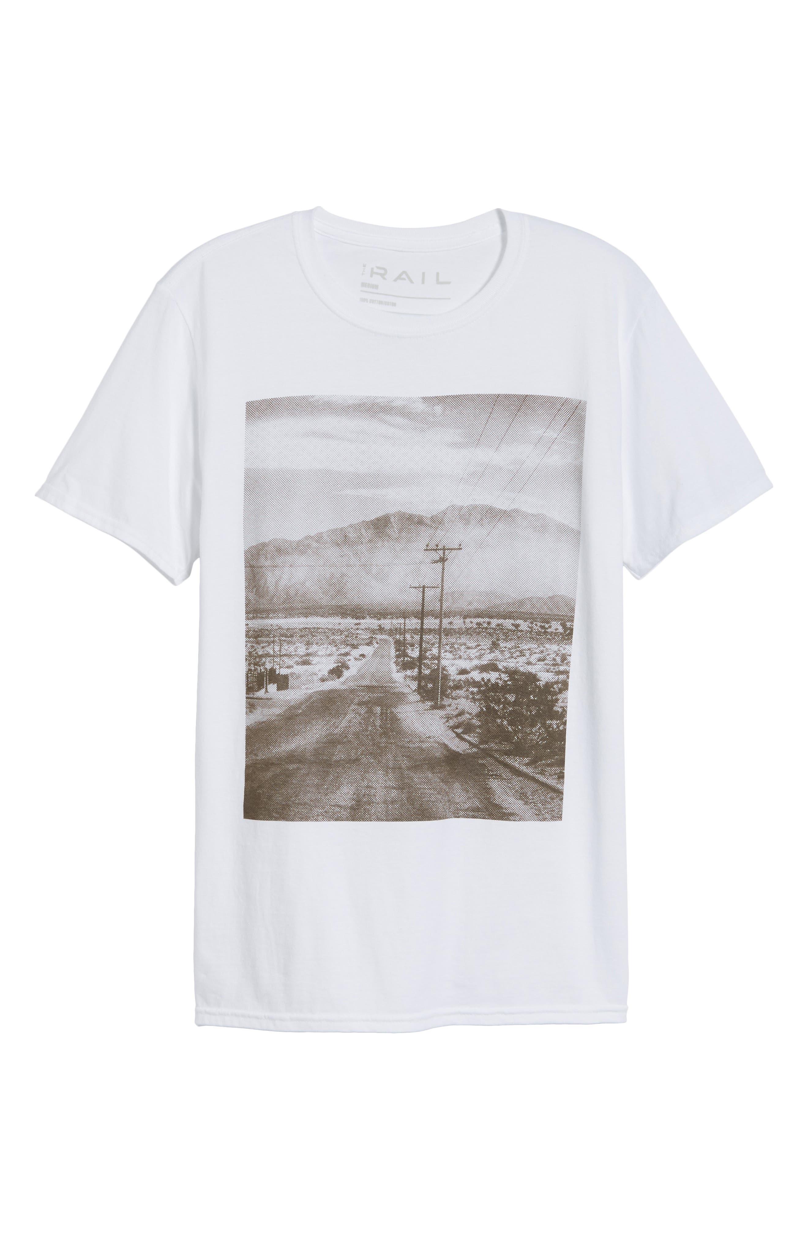 Deserted Road Photo T-Shirt,                             Alternate thumbnail 6, color,                             100