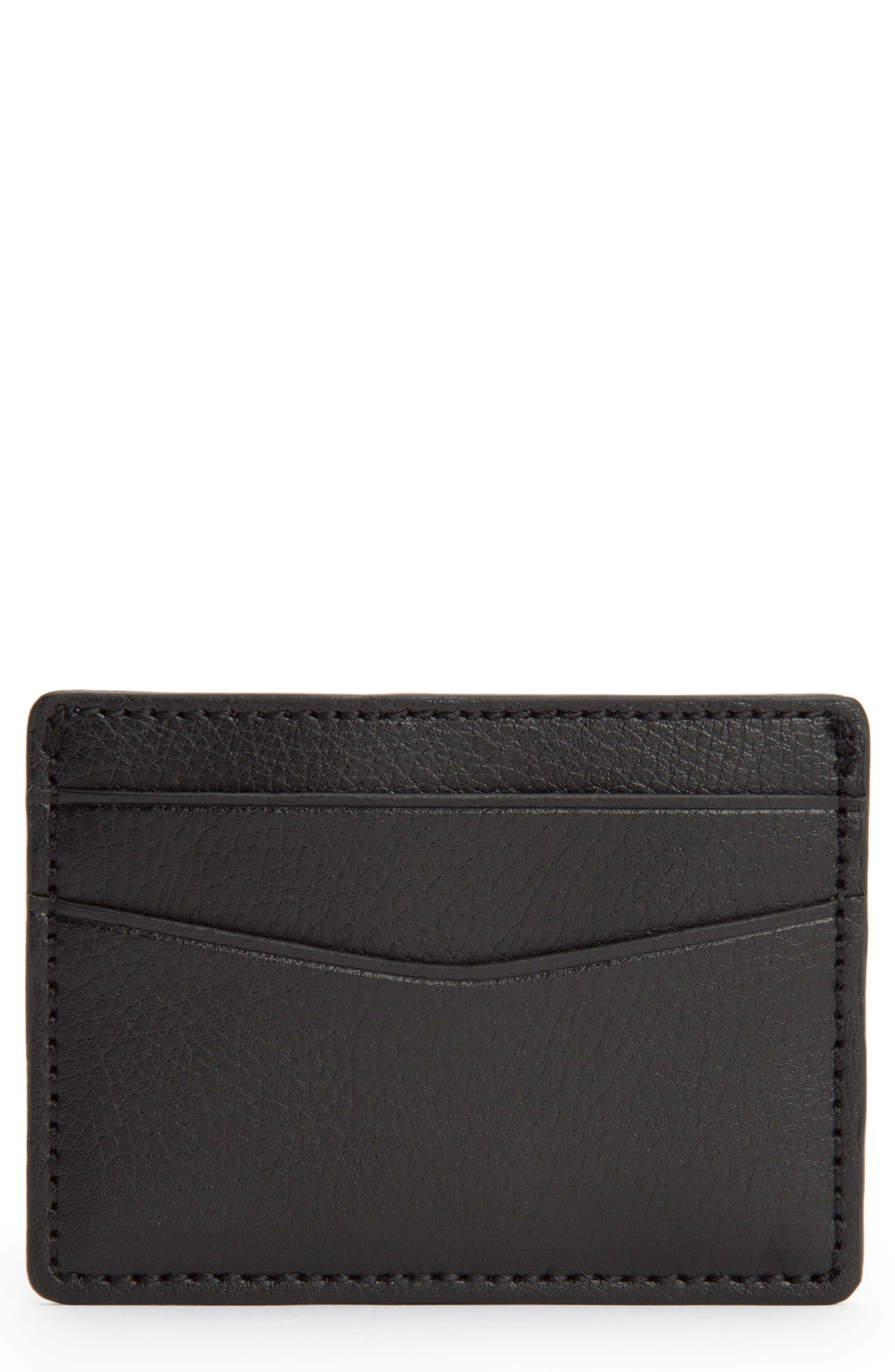 Blake Card Case,                         Main,                         color, BLACK