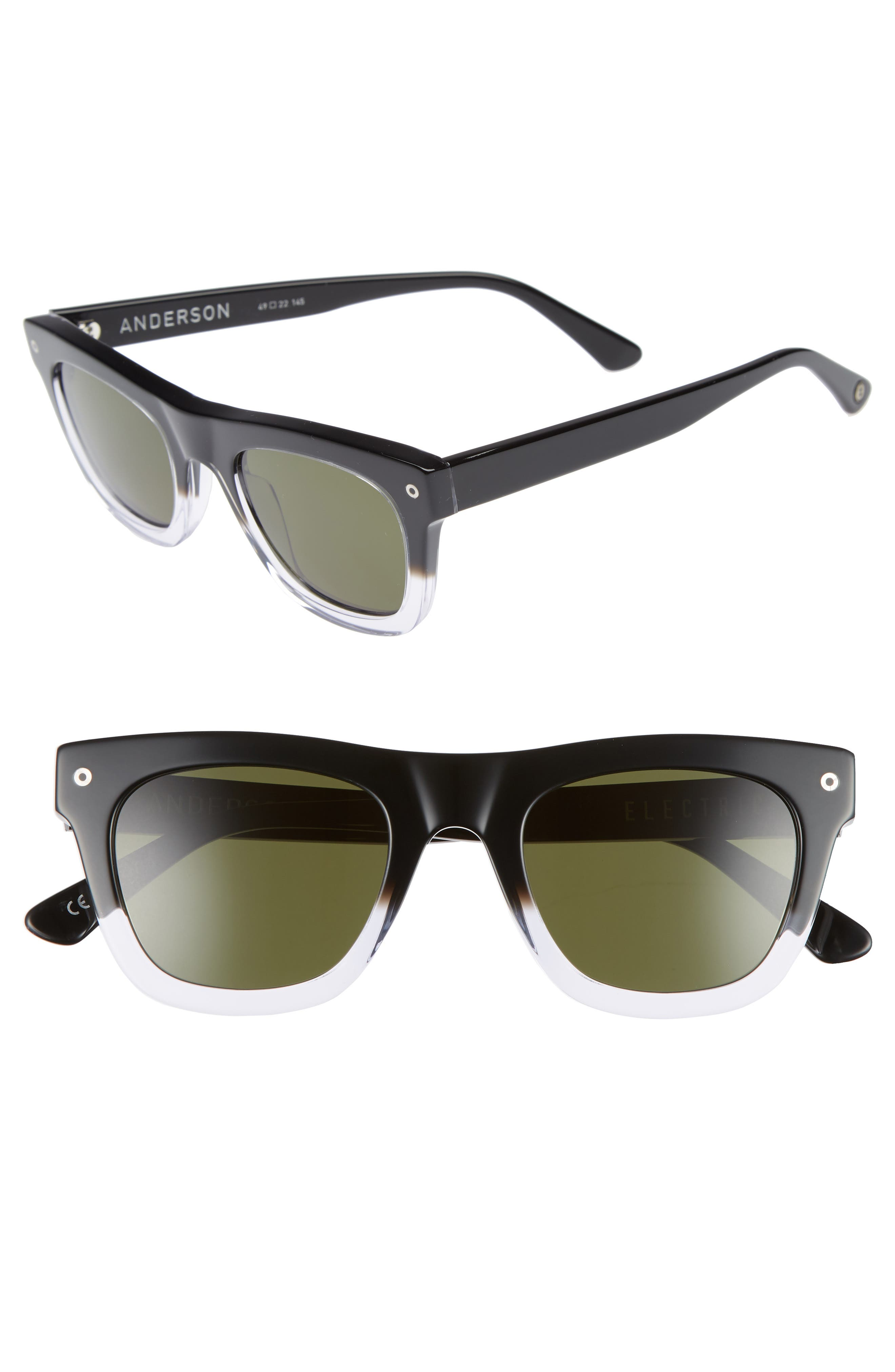 Andersen 49mm Sunglasses,                         Main,                         color, BLACK CLEAR FADE/ GREY