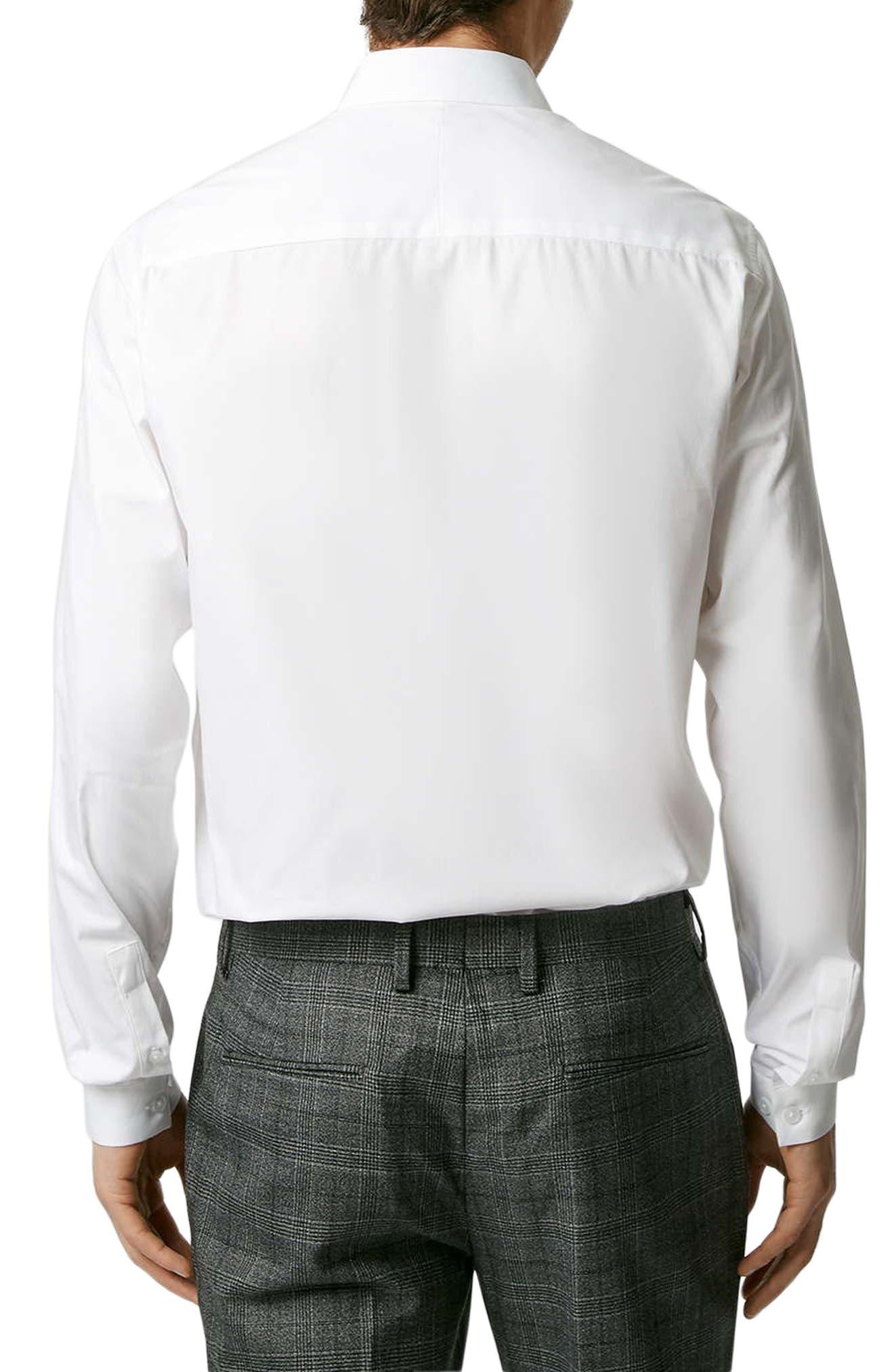 Penny Collar Shirt,                             Alternate thumbnail 3, color,                             WHITE