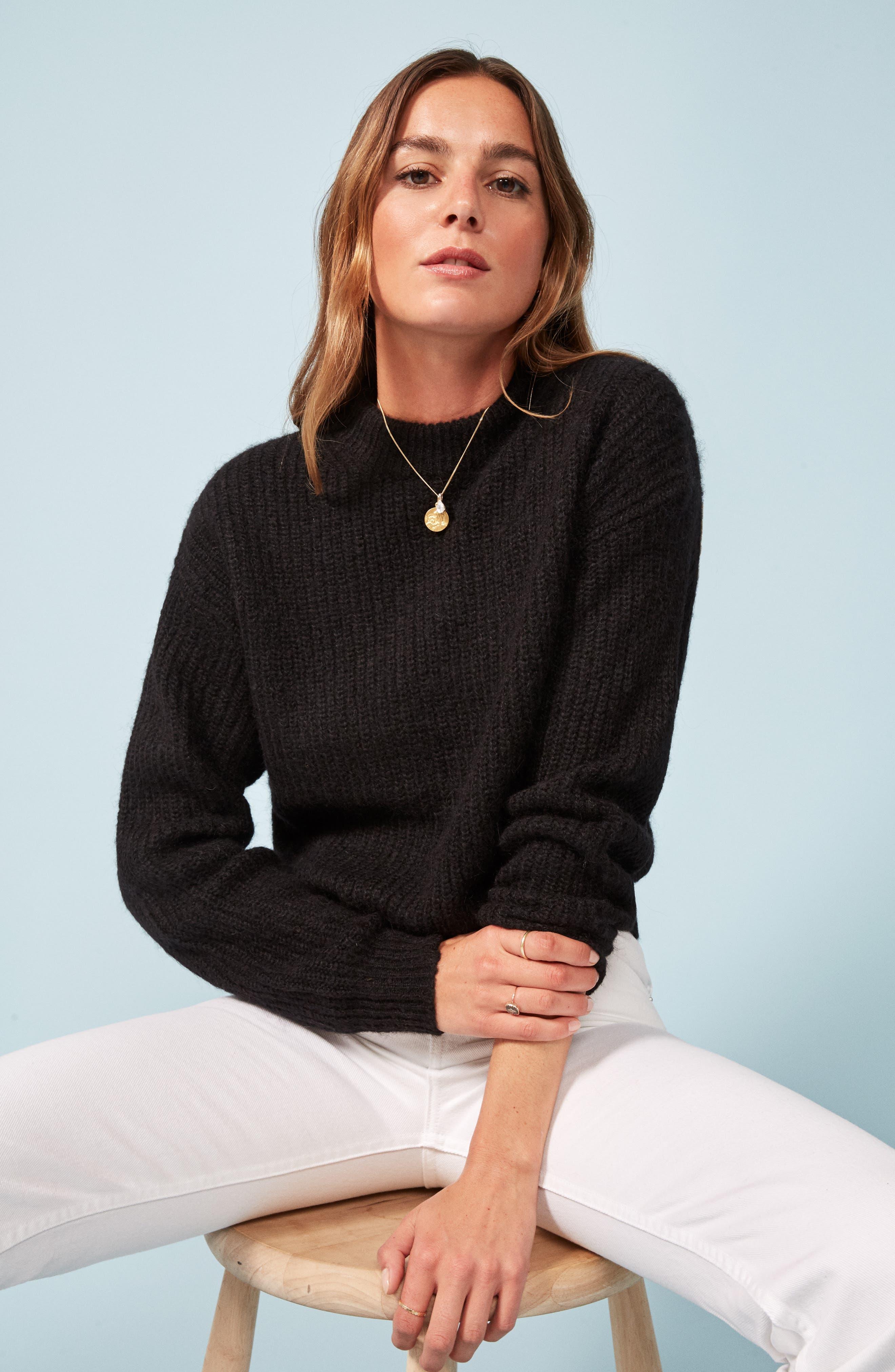 Finn Sweater,                             Alternate thumbnail 2, color,                             BLACK
