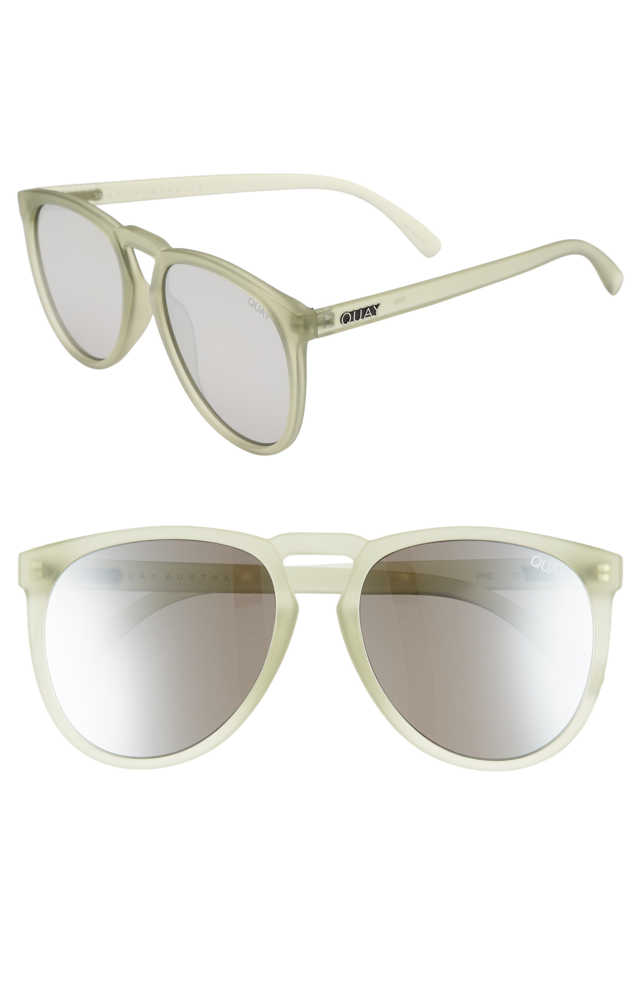 Quay Australia Phd 65Mm Sunglasses - Olive/ Silver