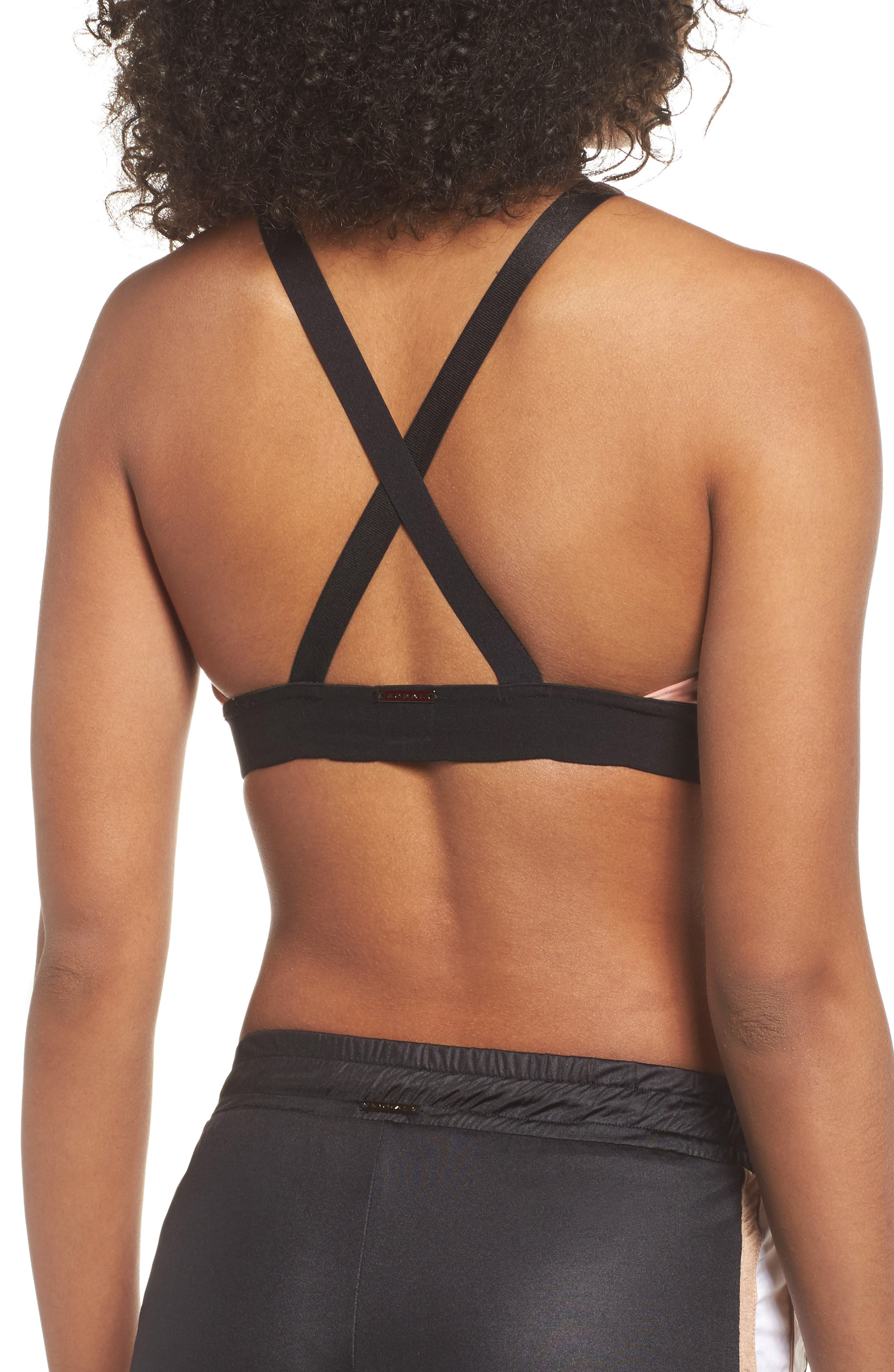 Valley Cross Front Sports Bra,                             Alternate thumbnail 2, color,                             CAMEO