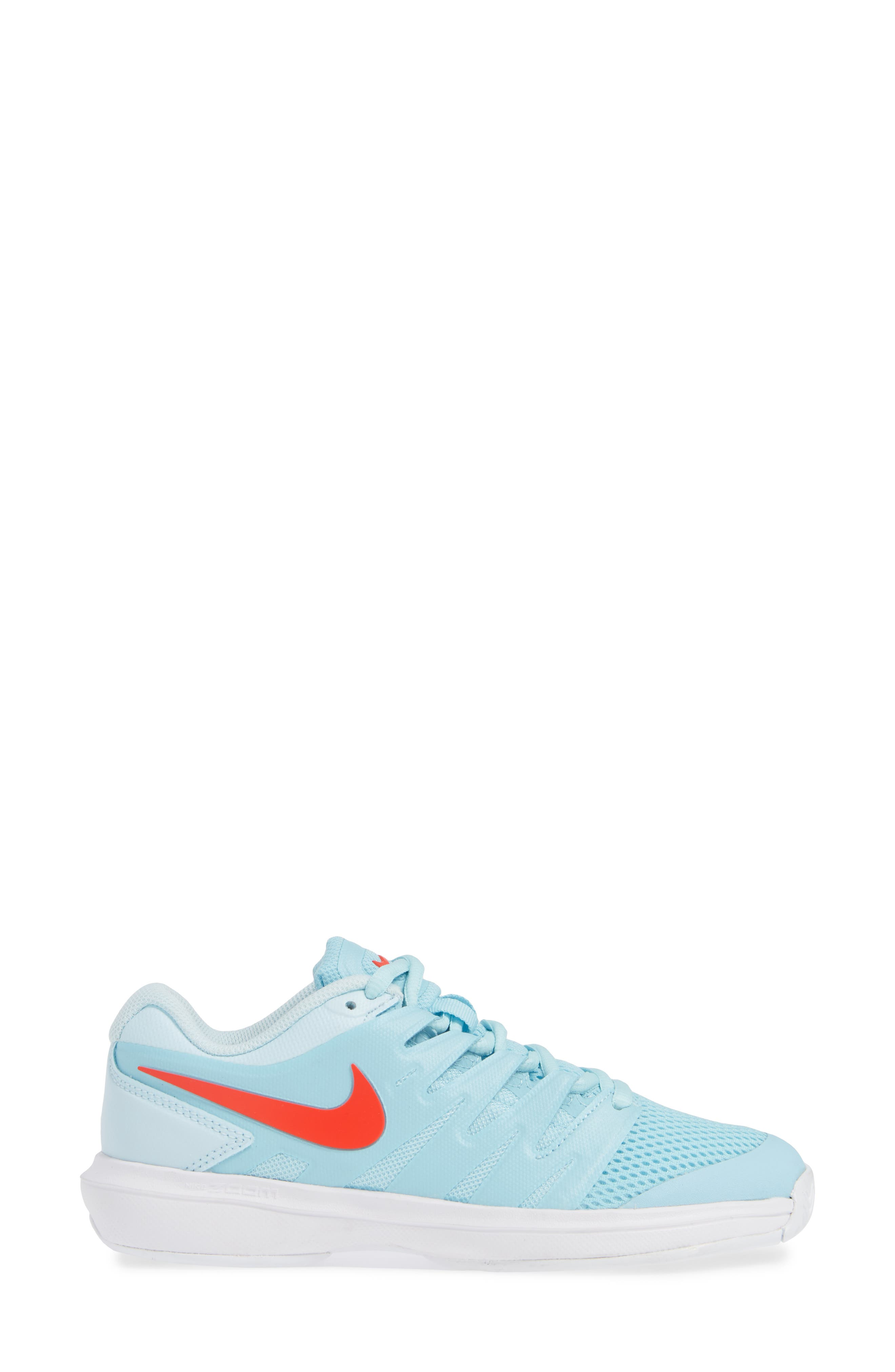 Air Zoom Prestige Tennis Shoe,                             Alternate thumbnail 3, color,                             BLUE/ BRIGHT CRIMSON-TOPAZ