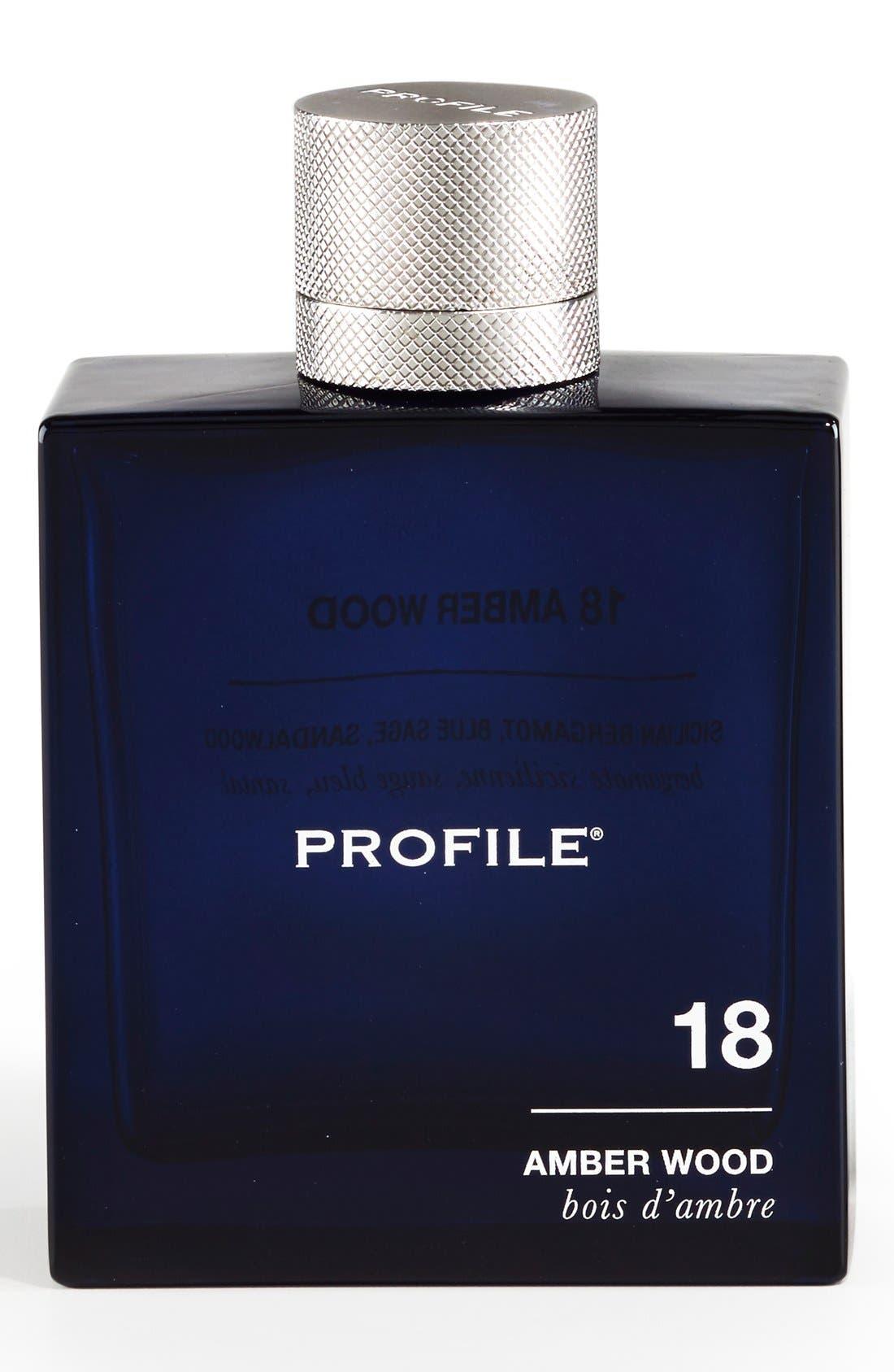 '18 Amber Wood' Eau de Parfum,                             Main thumbnail 1, color,                             NO COLOR
