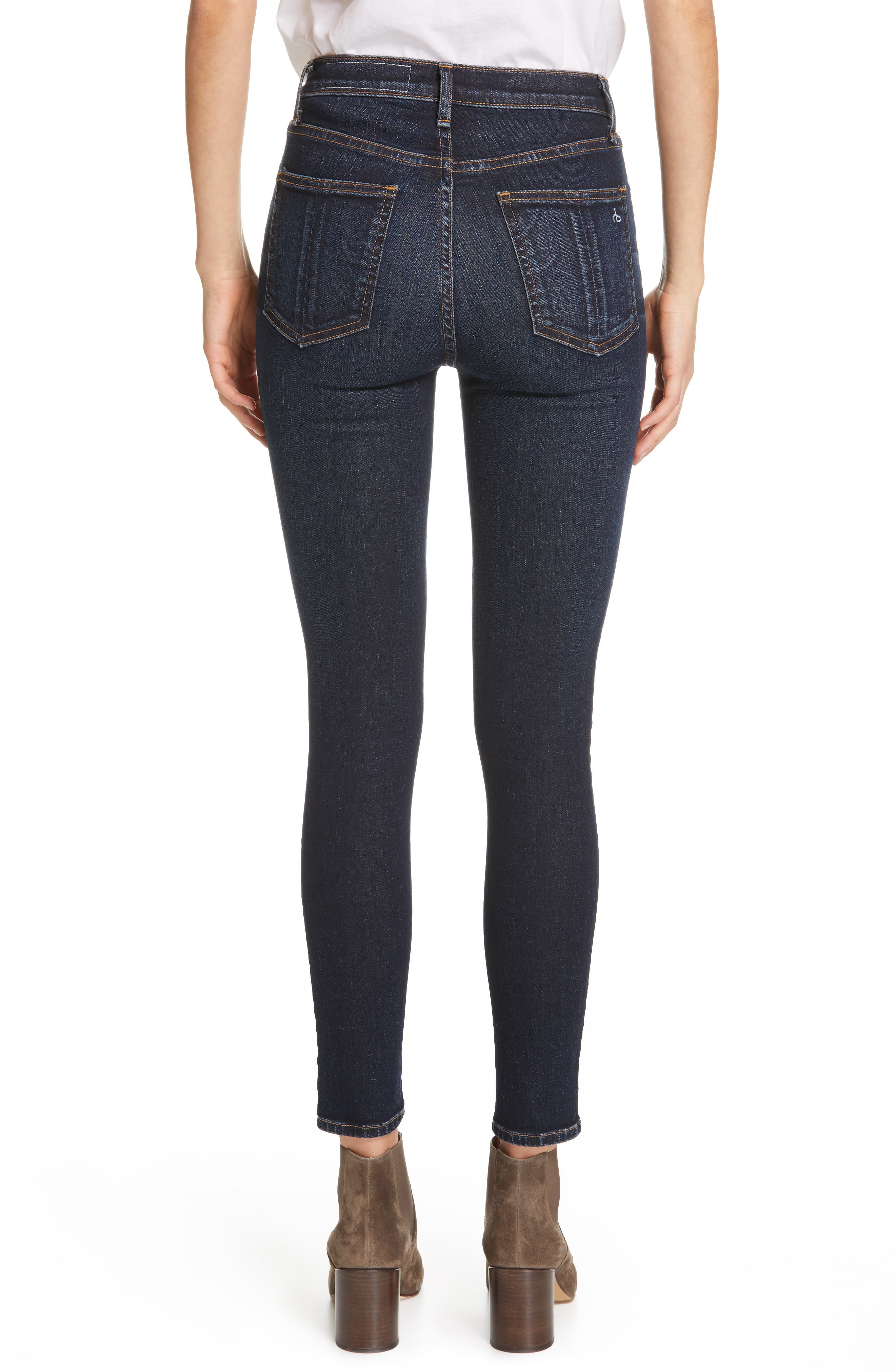 JEAN High Waist Ankle Skinny Jeans,                             Alternate thumbnail 2, color,                             RIVERDALE