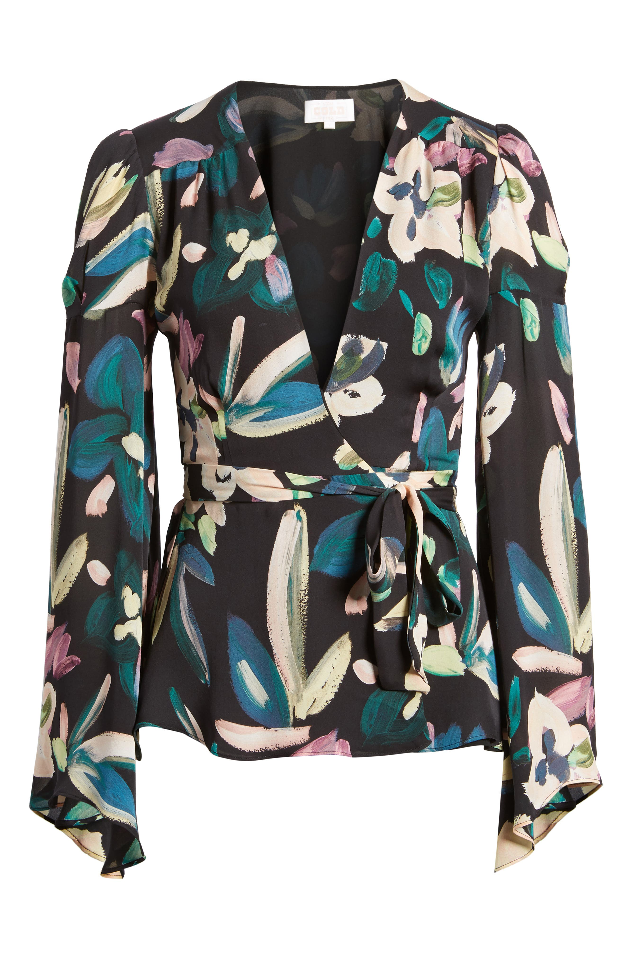 Beverly Wrap Top,                             Alternate thumbnail 6, color,