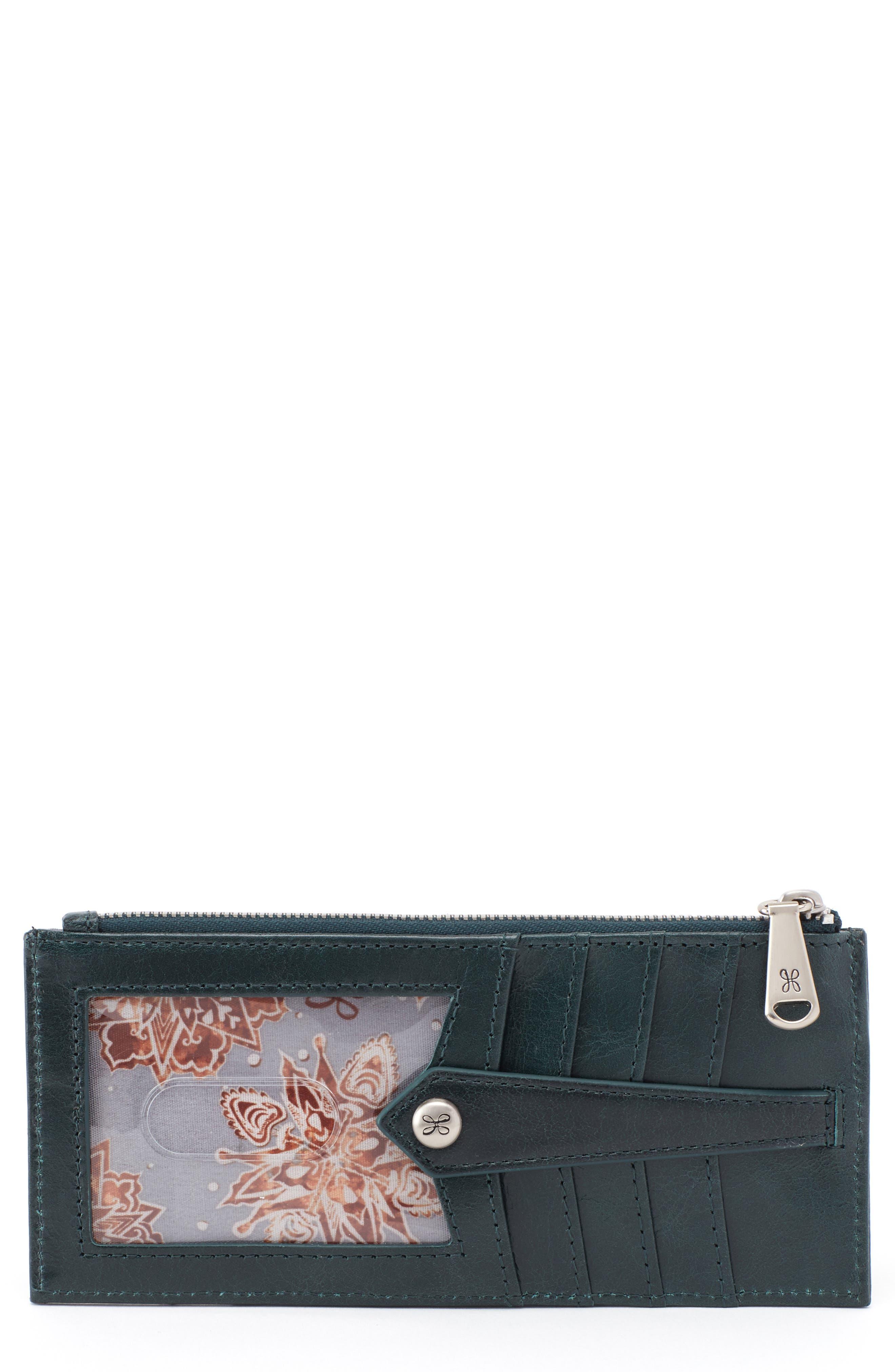 Linn Card Case,                         Main,                         color, EVERGREEN