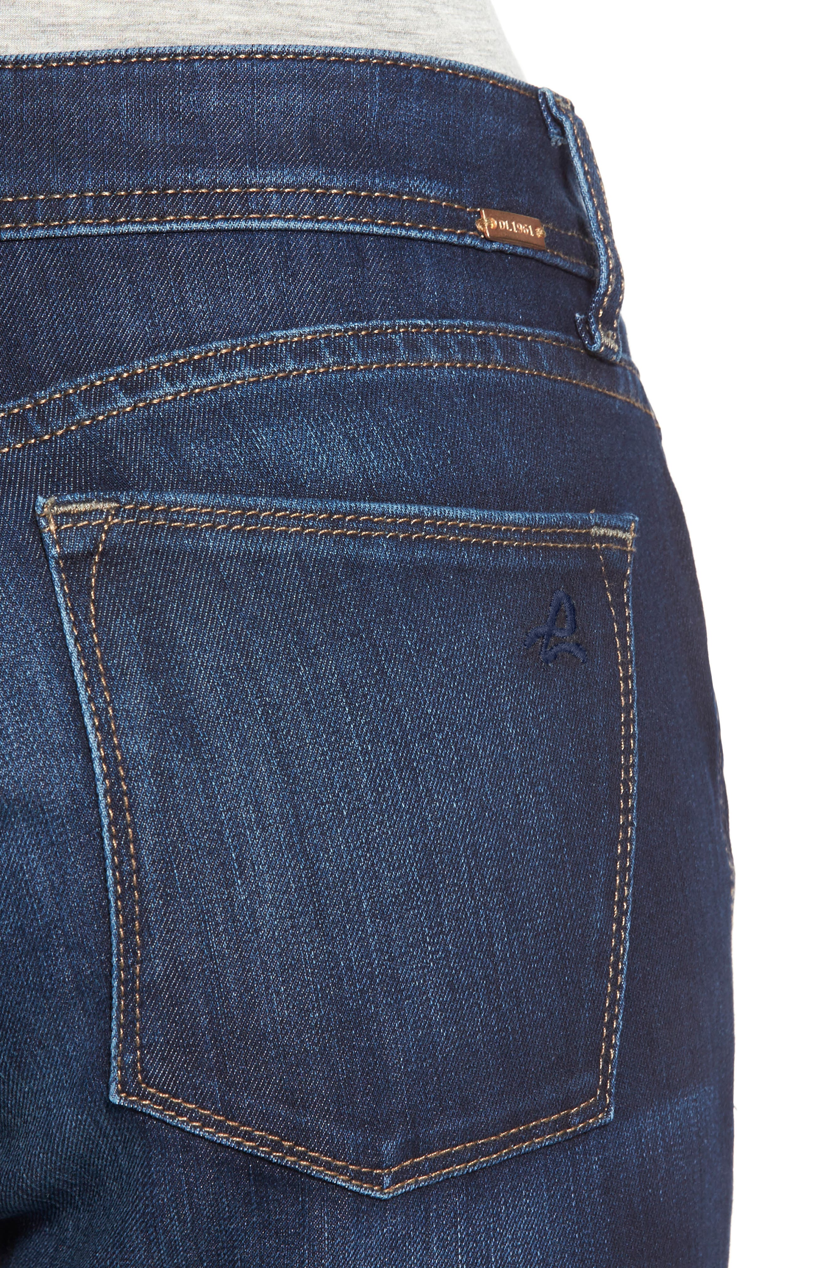 'Coco' Curvy Straight Jeans,                             Alternate thumbnail 4, color,                             SOLO