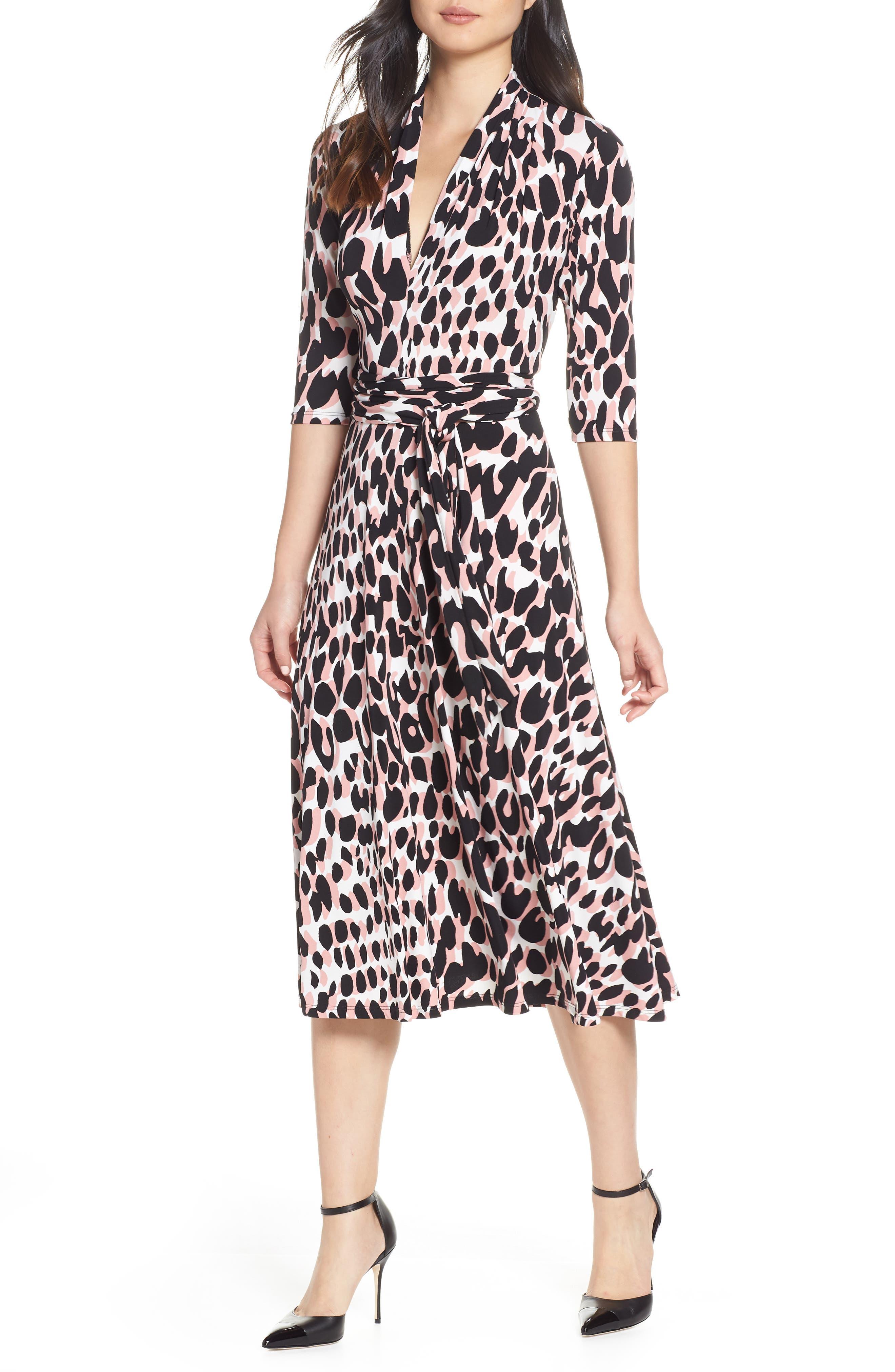Leota Dresses MAHLIA V-NECK JERSEY DRESS