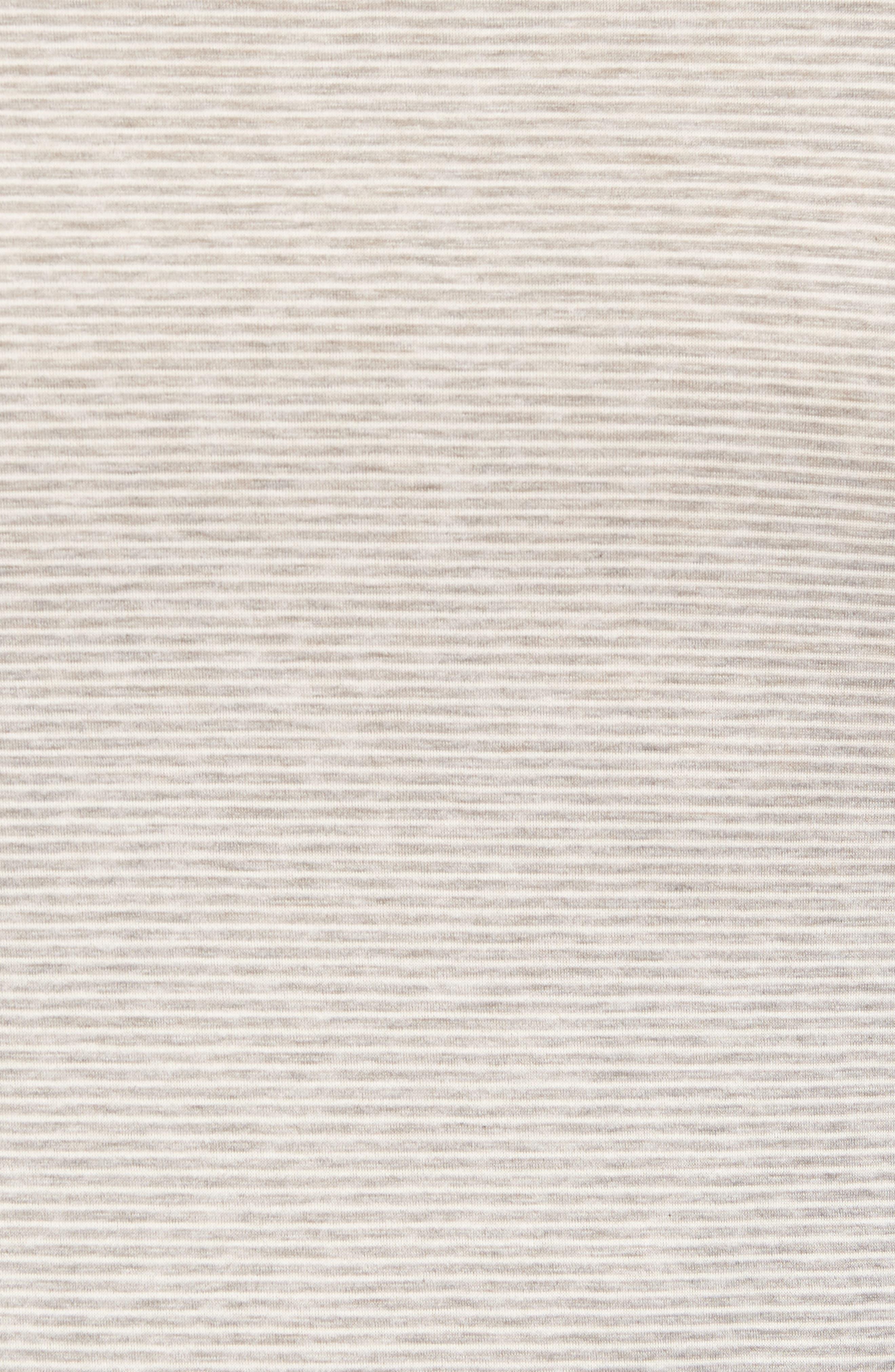 Sporty Stripe Cotton V-Neck T-Shirt,                             Alternate thumbnail 5, color,                             MELANGE STRIPE