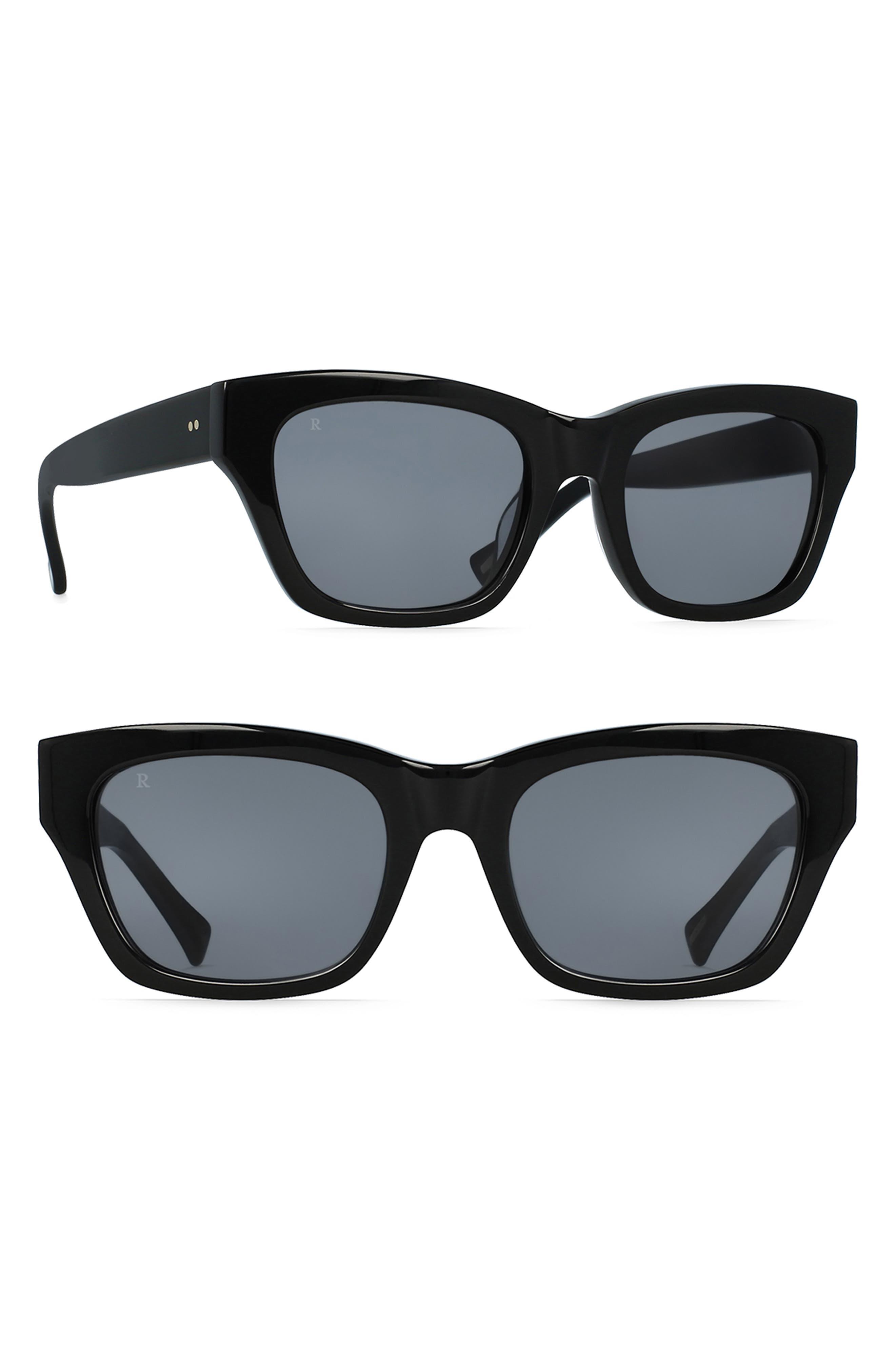 RAEN Bower 52Mm Polarized Sunglasses - Black/ Black