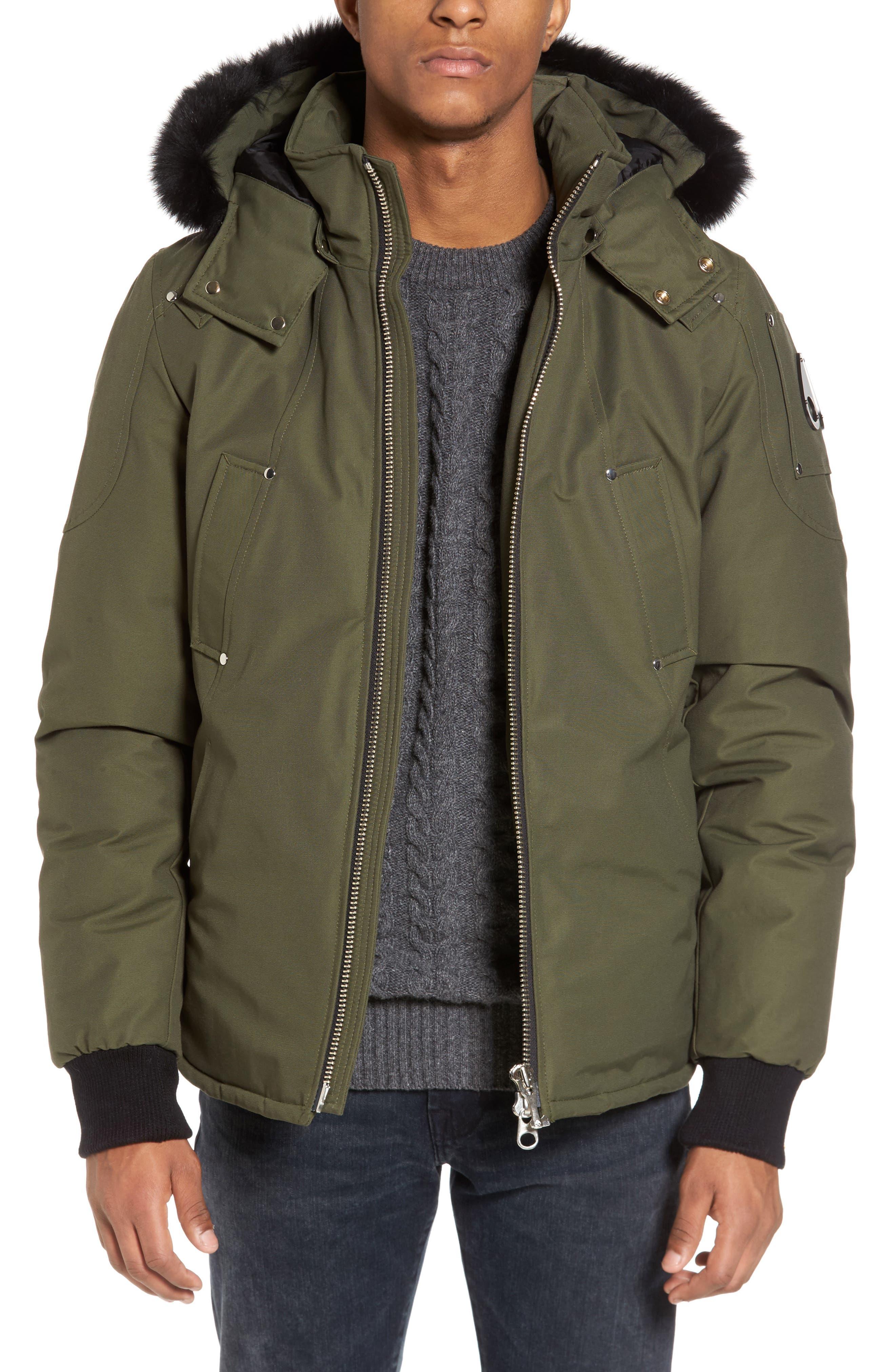 Down Coat with Genuine Fox Fur Trim,                         Main,                         color, 300