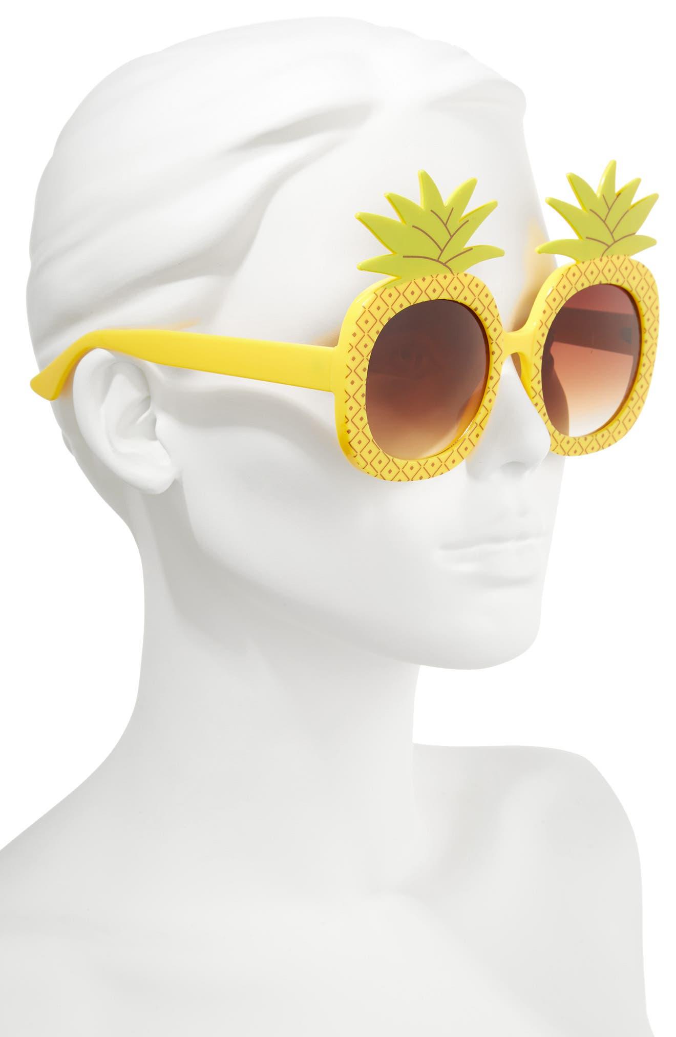 51mm Pineapple Glam Sunglasses,                             Alternate thumbnail 2, color,