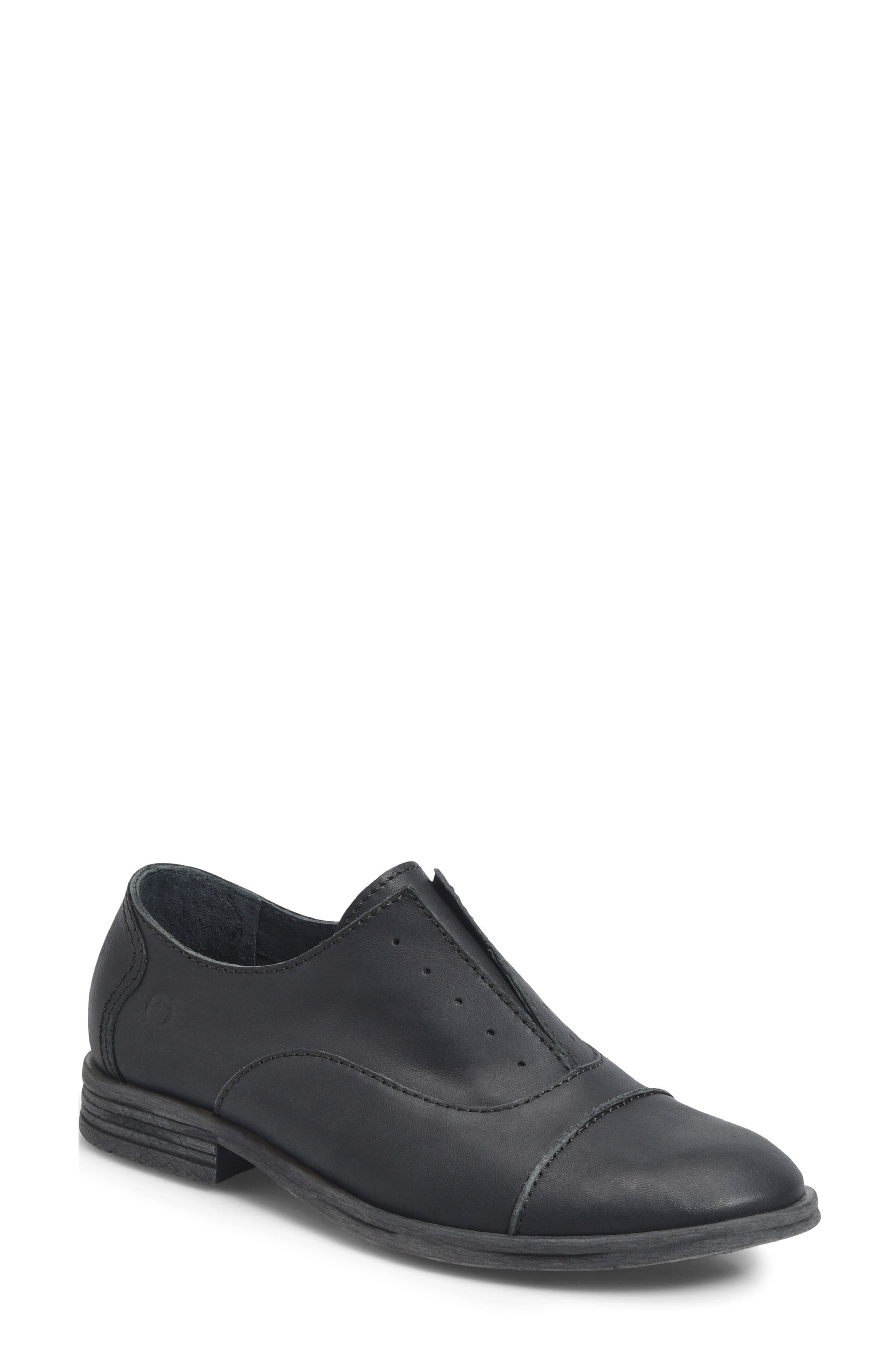 BØRN,                             Forato Slip-On Oxford,                             Main thumbnail 1, color,                             001