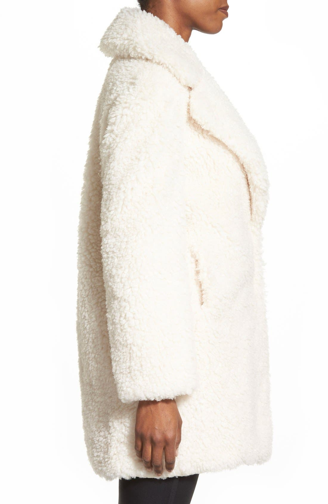 'Teddy Bear' Notch Collar Reversible Faux Fur Coat,                             Alternate thumbnail 20, color,