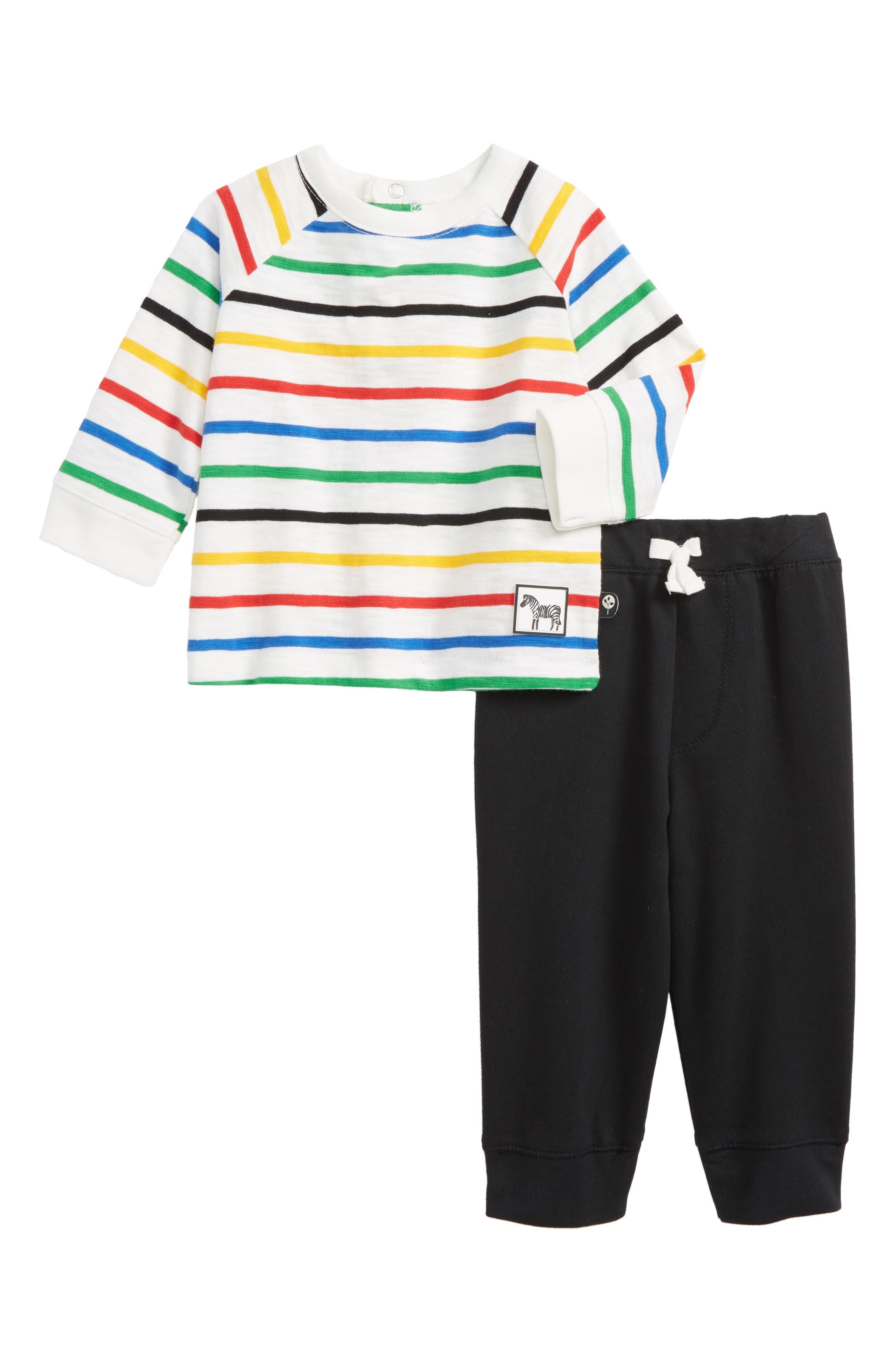 Zebra T-Shirt & Jogger Pants Set,                             Main thumbnail 1, color,                             001